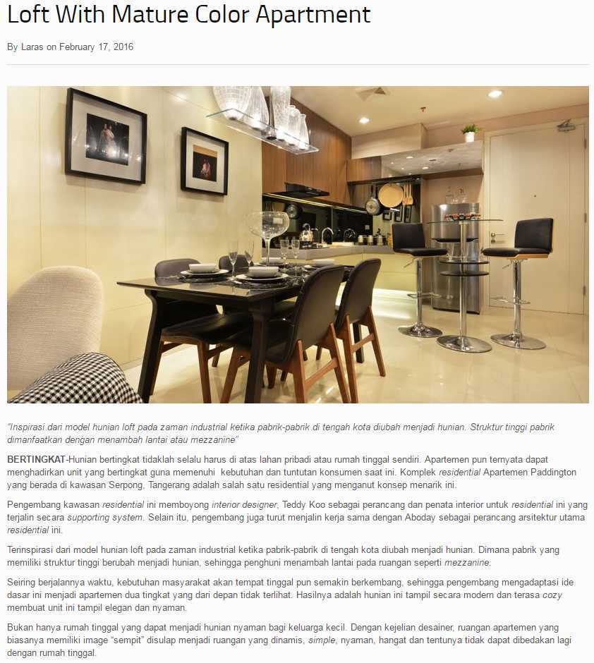 Teddykoo  3 Bedroom Loft Show Unit Paddington Height Apartment Alam Sutera  Alam Sutera  Laras-Febuary   9955