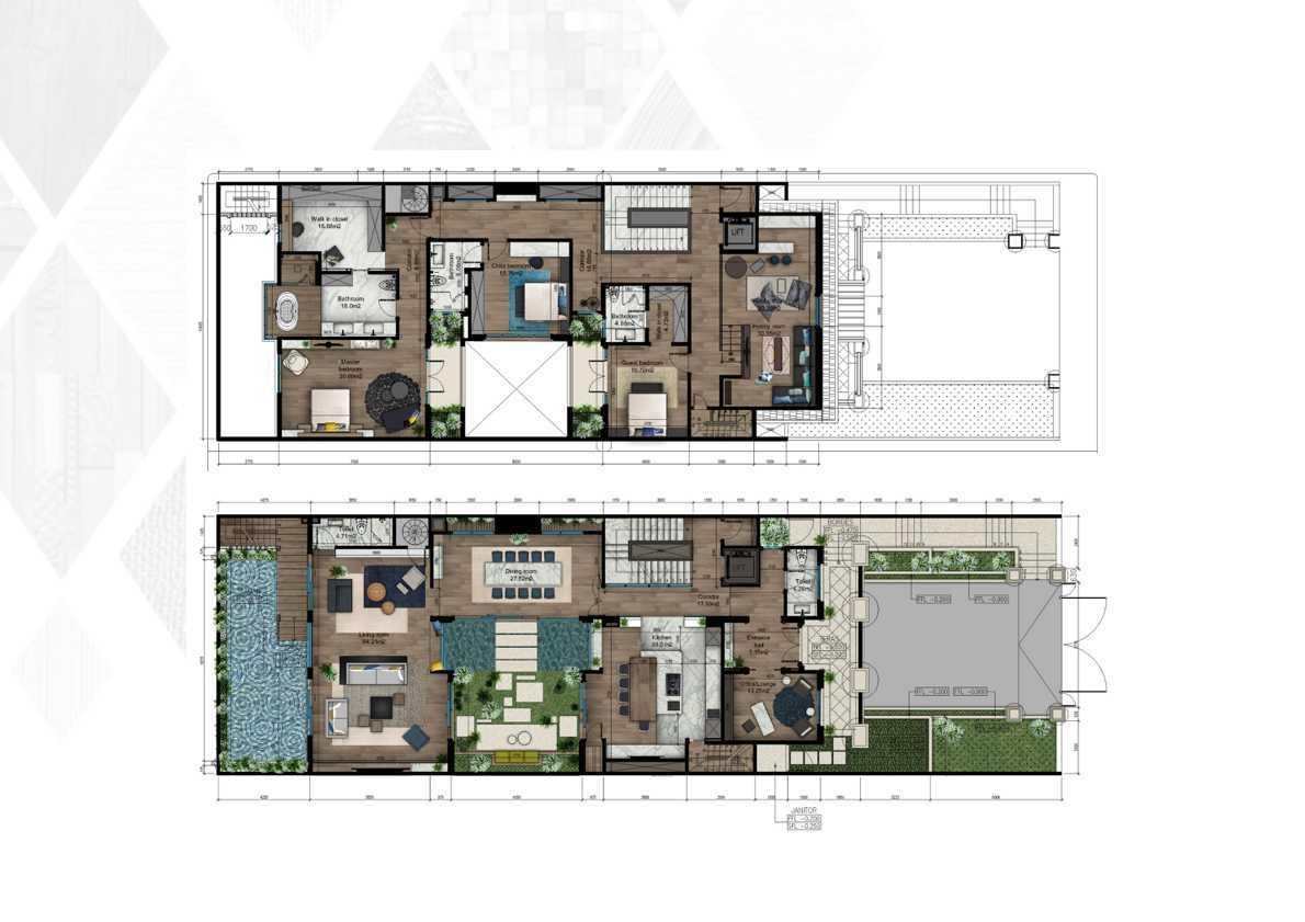 Idea agency mr ds house jakarta jakarta site plan modern 15009