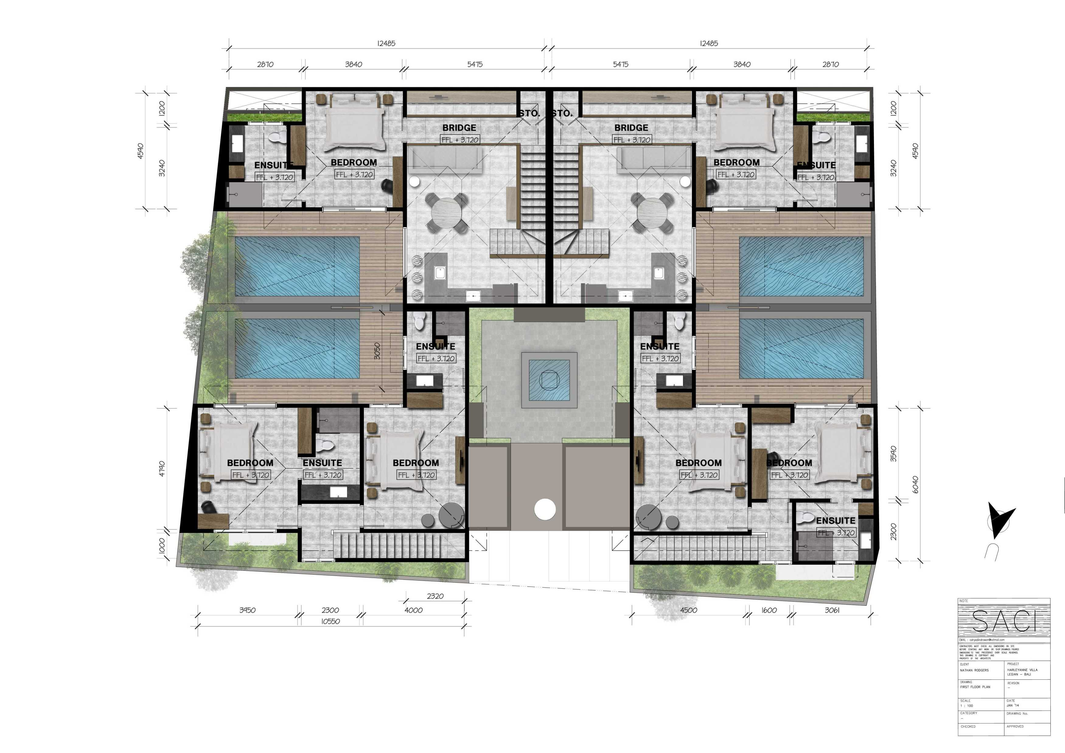 Icds Architect Harleyanne Villa Bali Bali Site Plan   15124