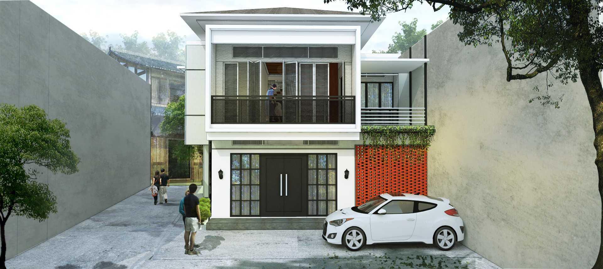 Localic Studio Breathing House Bintaro, Pesanggrahan, South Jakarta City, Jakarta, Indonesia Bintaro Front View  <P>Fasad, Tampak Depan.</p> 9863