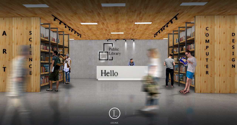 Localic Studio Public Library  Bekasi, Tambelang, Bekasi, West Java, Indonesia Bekasi, Tambelang, Bekasi, West Java, Indonesia Lobby-Atas-Perpus-Localic Industrial,kontemporer,modern  36337