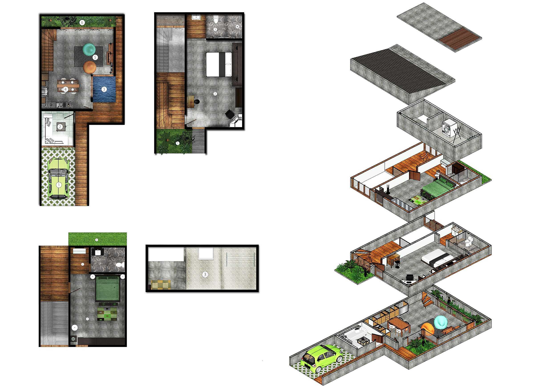 Hadid Syafaad 4:25 House Depok City, West Java, Indonesia Jakarta Floor Plan   10175