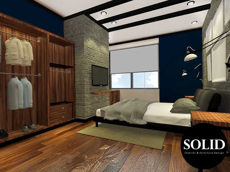 Solidinterior Industrial Style Apartment  Gallery West Apartment  Gallery West Apartment  Master-Bedroom-View-1 Industrial  16347