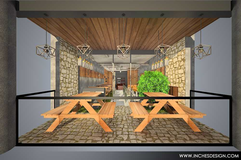 Inches Design Pepperloin Steakhouse Pik Pik Semi Outdoor Area   15936