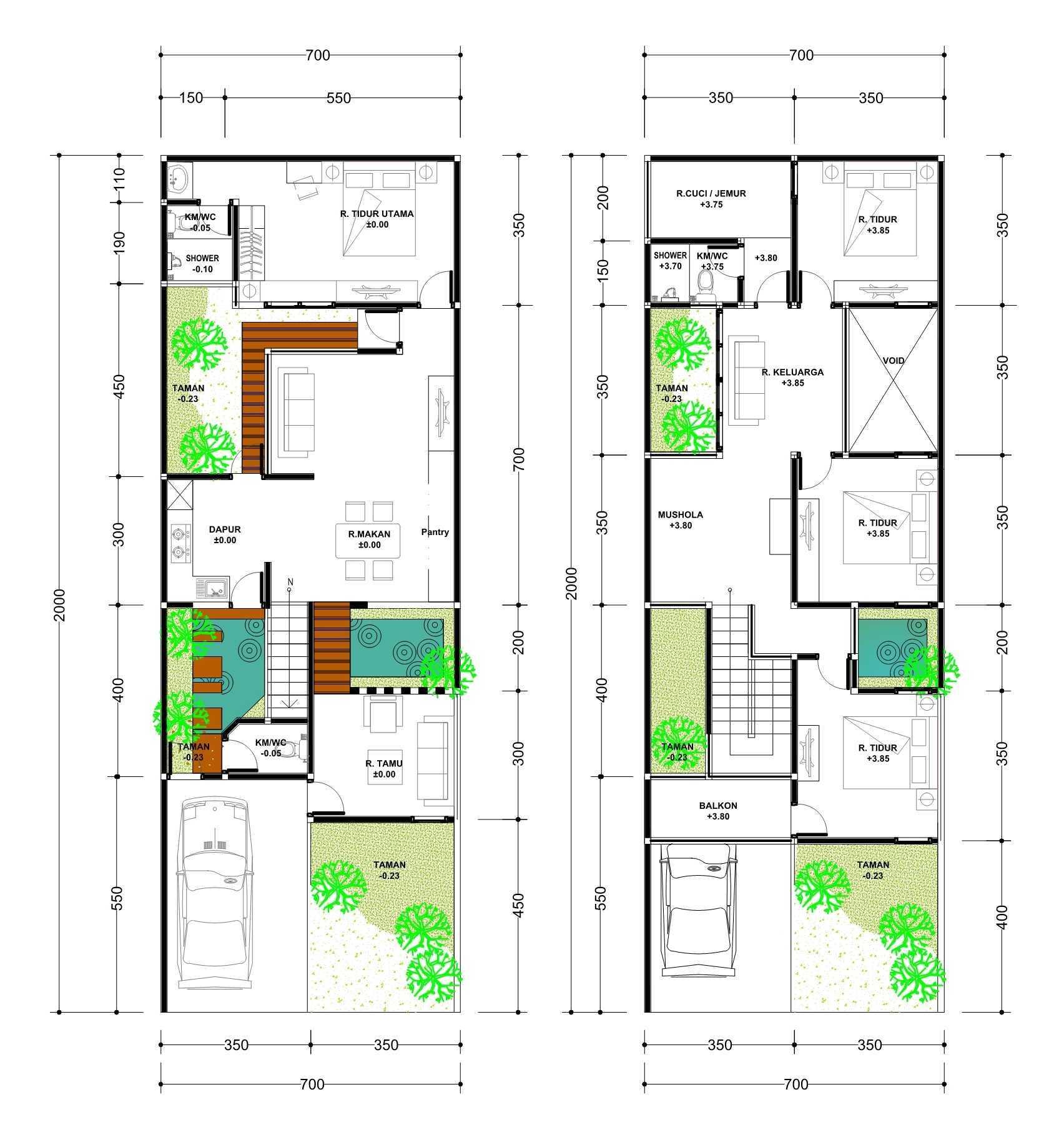 Aditya Wijaya / Studio Indirakasa  A House  Sidoarjo Sidoarjo Sidoarjo Site Plan Kontemporer  15561