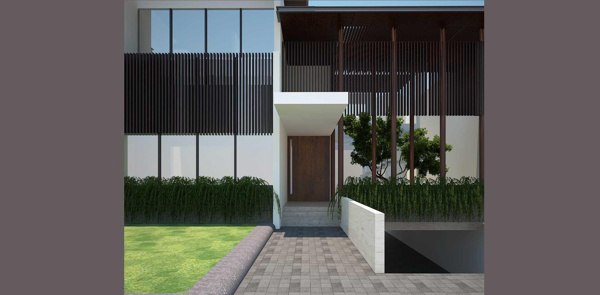Pt Alradista Desain Indonesia Kemang House Kemang Kemang Front Door Modern  11148