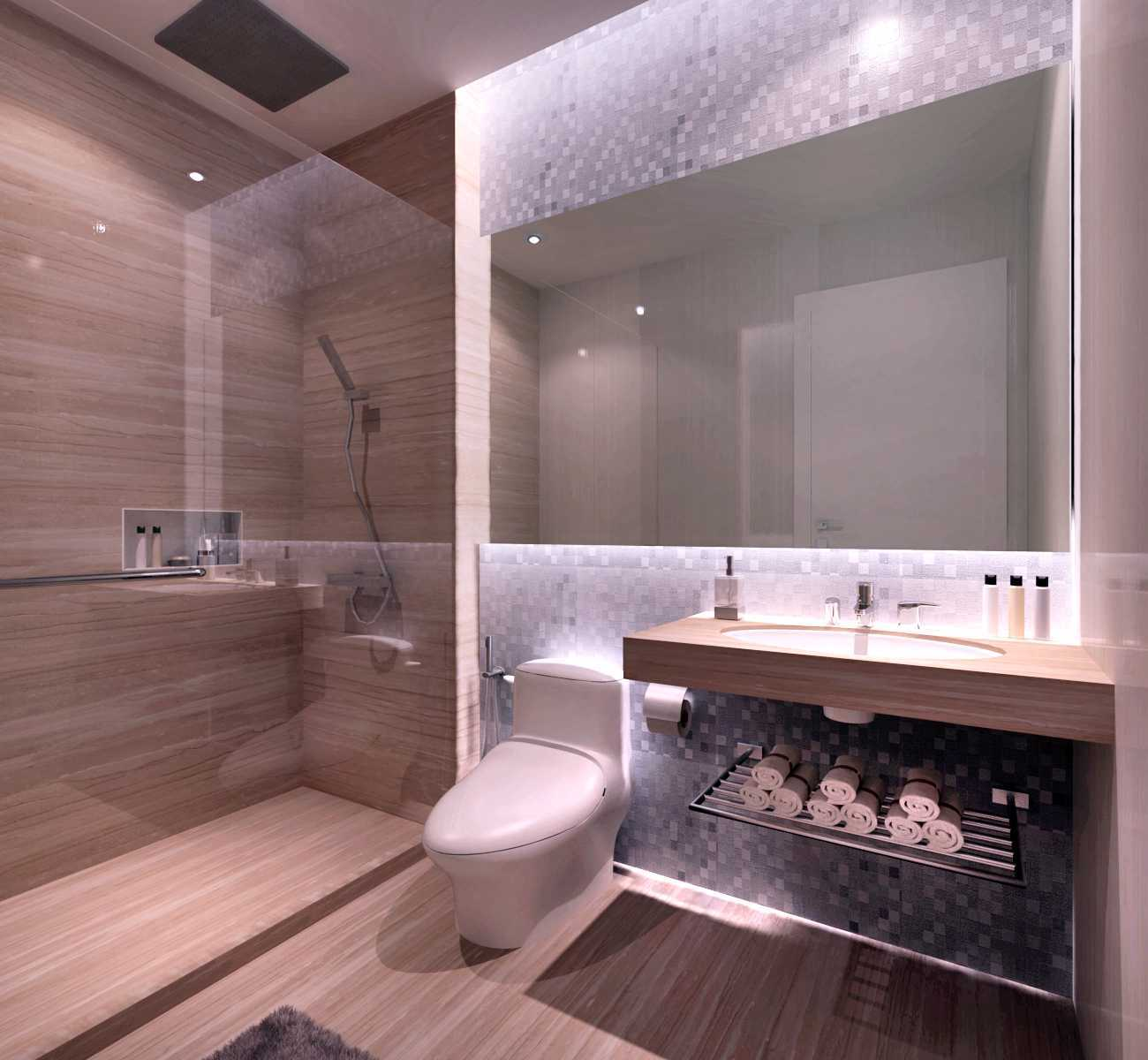 Rinto Katili Modern Luxuries  Style Apartment Jakarta Jakarta Bathroom Design_For Guest Kontemporer  29778