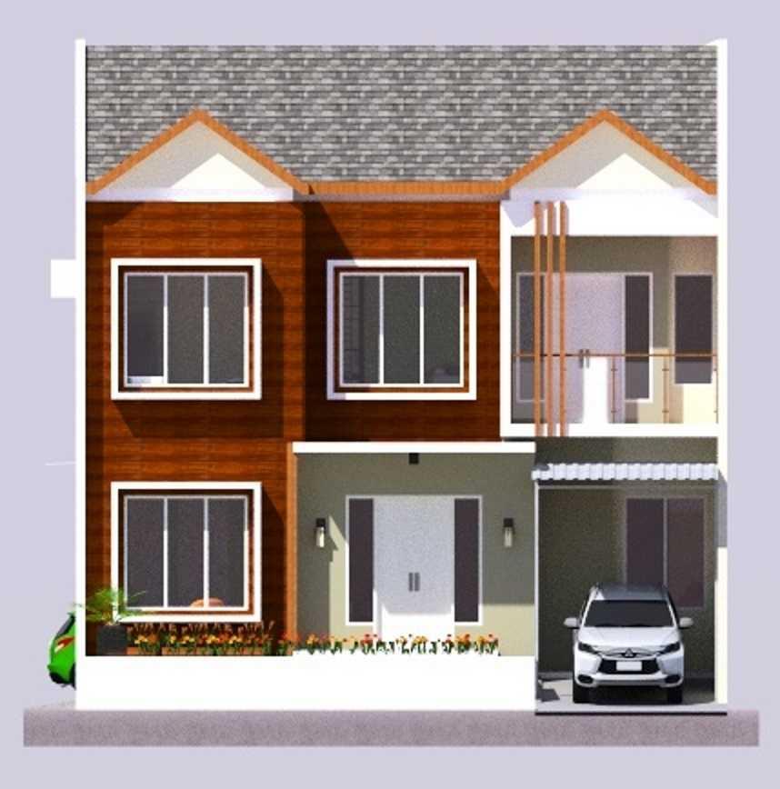 Eko Sulistiyono Rumah Tinggal Di Cimanggis Cimanggis, Kota Depok, Jawa Barat, Indonesia Cimanggis, Kota Depok, Jawa Barat, Indonesia Front View Rendering Modern  50390