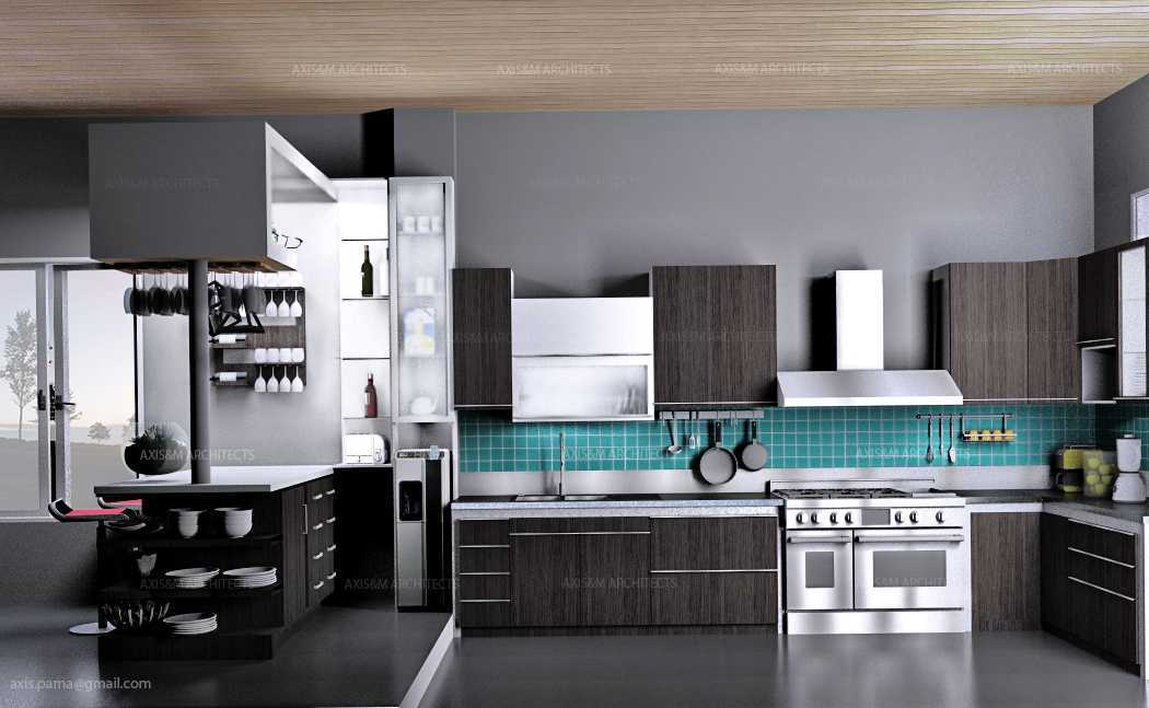 Axis Citra Pama / Axis&m Architects Kitchen Set Bukittinggi, West Sumatra Bukittinggi, West Sumatra Tampak Samping Klasik  15126