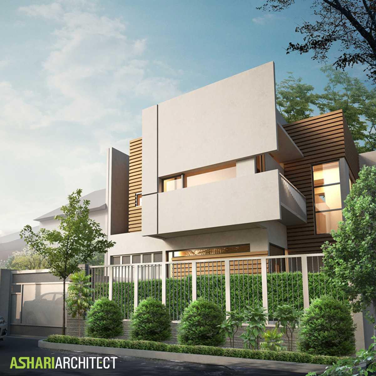 Ashari Architects Alam V House Depok, West Java, Indonesia Depok, West Java, Indonesia Render-Front-View Kontemporer  11856