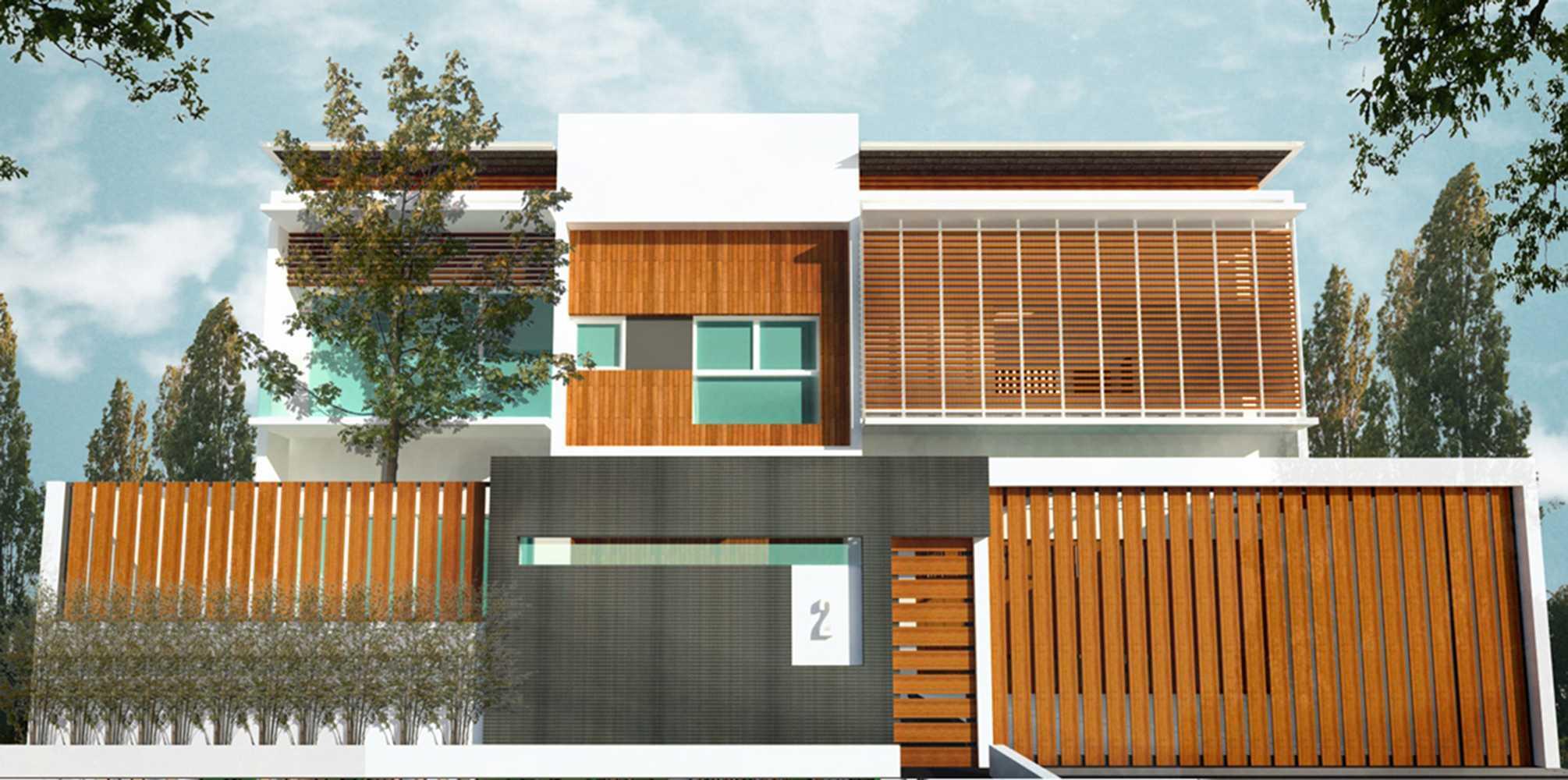 Ashari Architects Kalibata House Jakarta, Indonesia Jakarta, Indonesia Render-Front-View Kontemporer  11863
