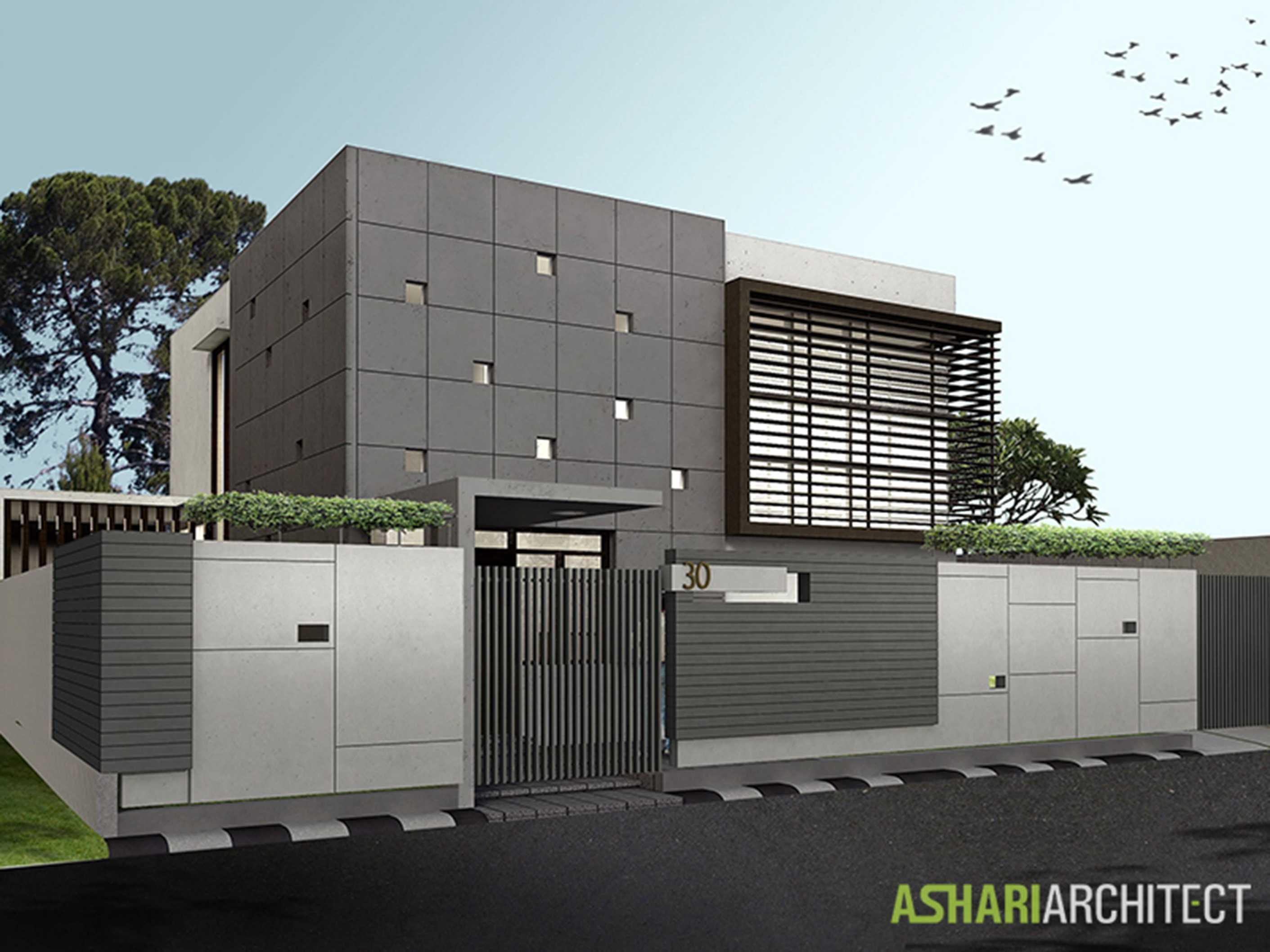Ashari Architects Palembang House Palembang, Indonesia Palembang, Indonesia Render-Front-View Kontemporer  11870