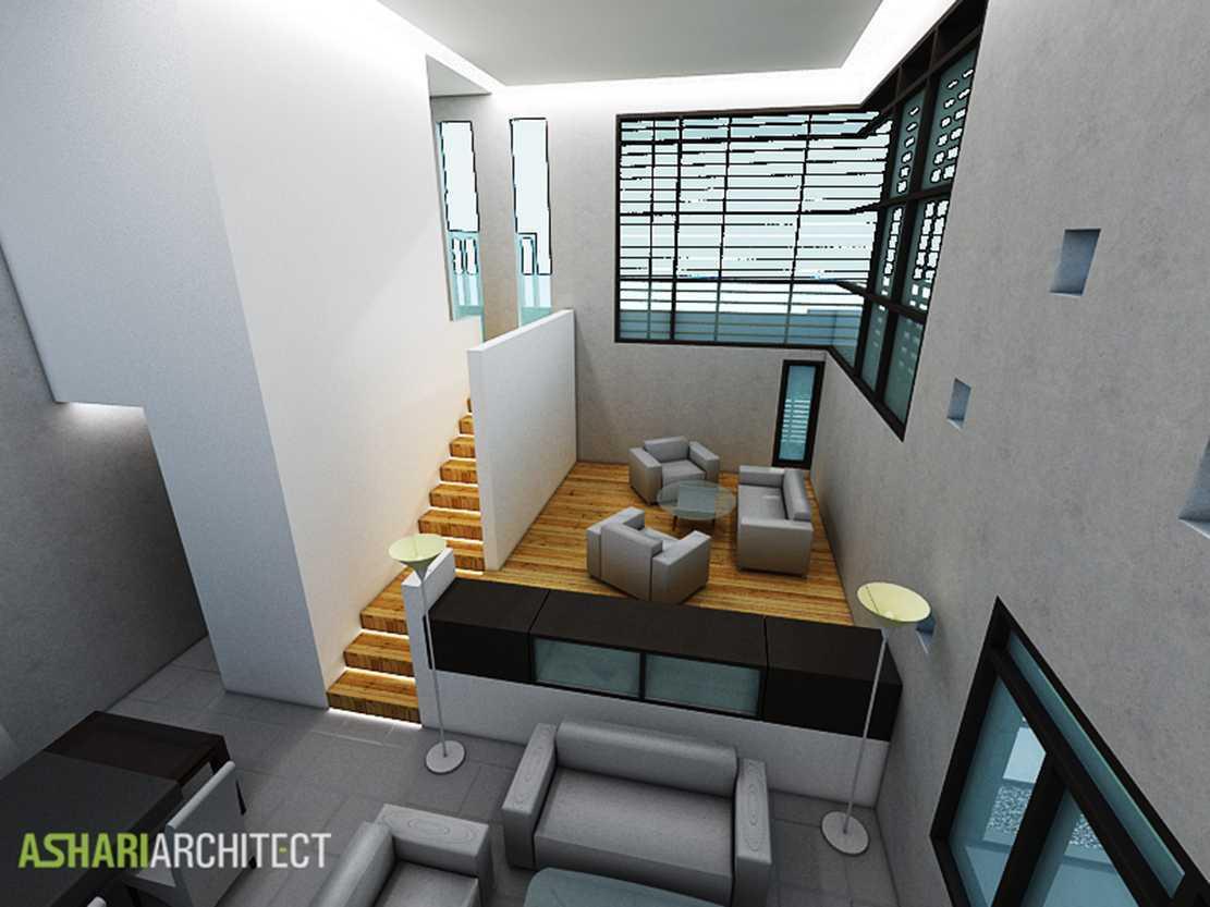 Ashari Architects Palembang House Palembang, Indonesia Palembang, Indonesia Livingroom-Area-View Kontemporer  11874