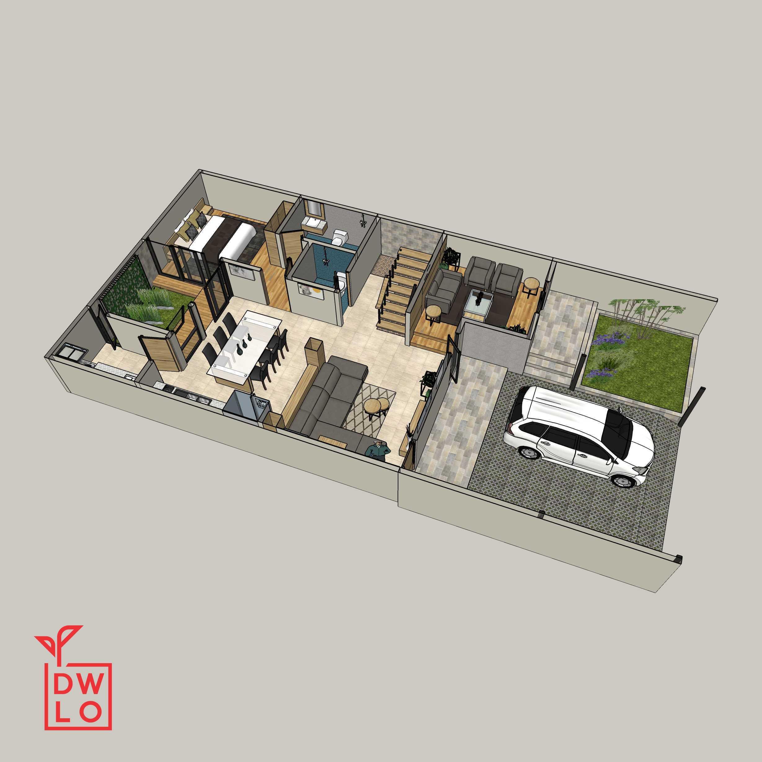 Danu Ega Amin Residence Pekanbaru, Kota Pekanbaru, Riau, Indonesia Pekanbaru, Kota Pekanbaru, Riau, Indonesia Floorplan Contemporary  45432