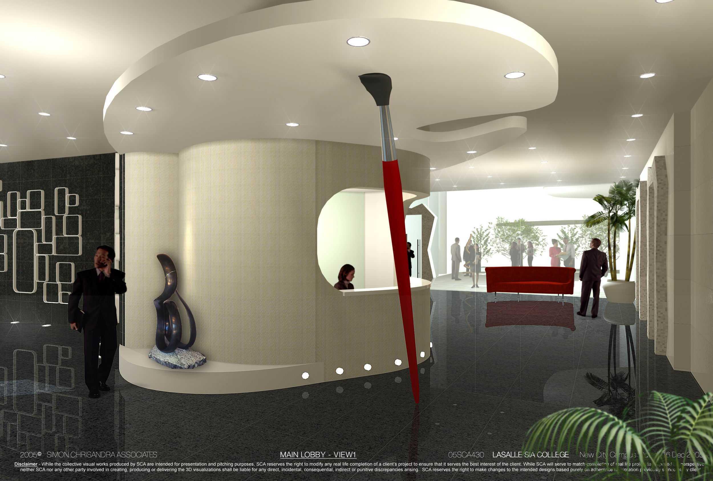 Rully Tanuwidjaja The New City Campus Lasalle-Sia Singapura Singapura Administration Counter Lobby Kontemporer  48069