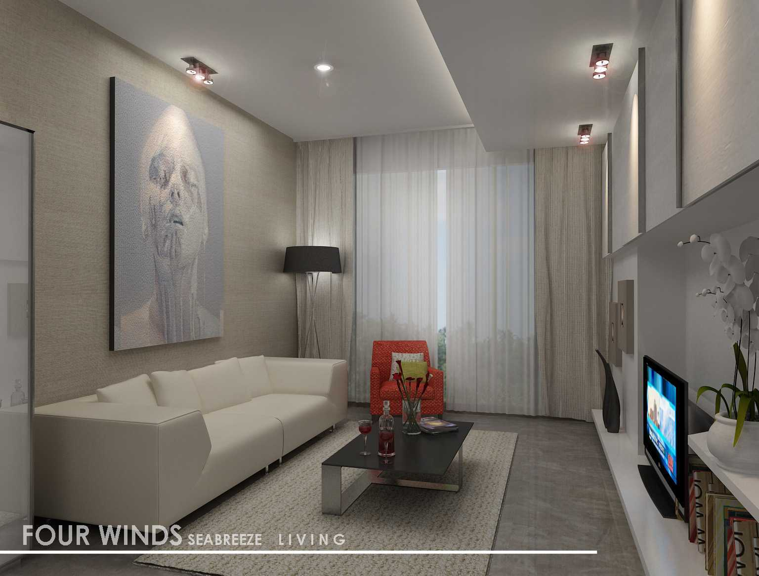Rully Tanuwidjaja Interior Residential Four Winds Condominium Jl. Tentara Pelajar, Gelora, Tanahabang, Kota Jakarta Pusat, Daerah Khusus Ibukota Jakarta, Indonesia  Sea-Breeze Living   48340