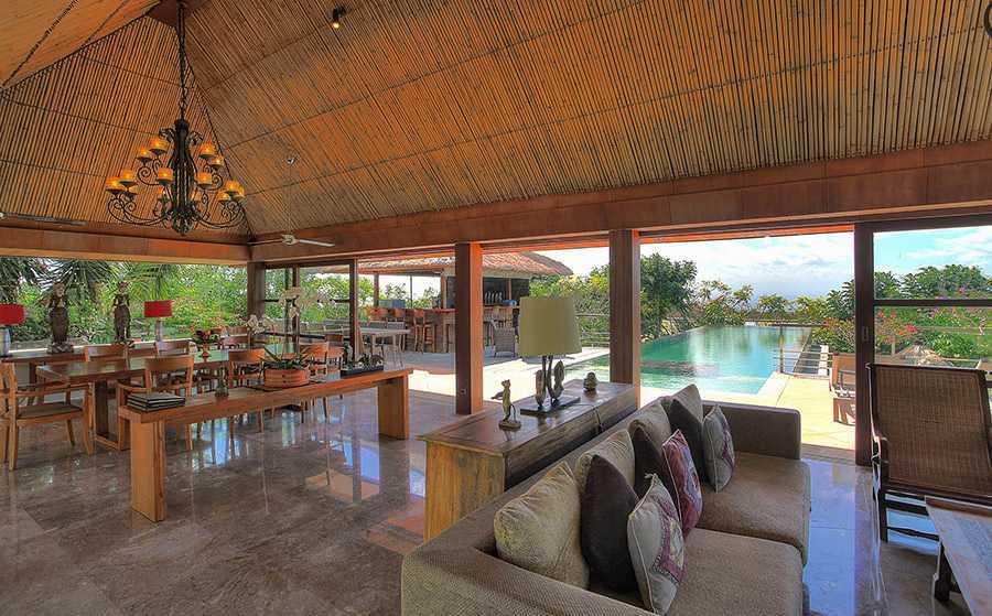 Agung Budi Raharsa | Architecture & Engineering Villa Indah Manis - Bali Bali, Indonesia Pecatu, Bali Indah-Manis-Living-Dining-Rooms-Plus-Pool-View   12418