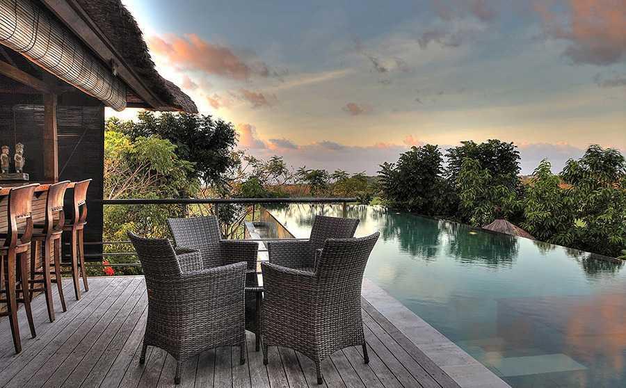 Agung Budi Raharsa Villa Indah Manis - Bali Pecatu, Bali Pecatu, Bali Indah-Manis-Pool-At-Sunset   12423