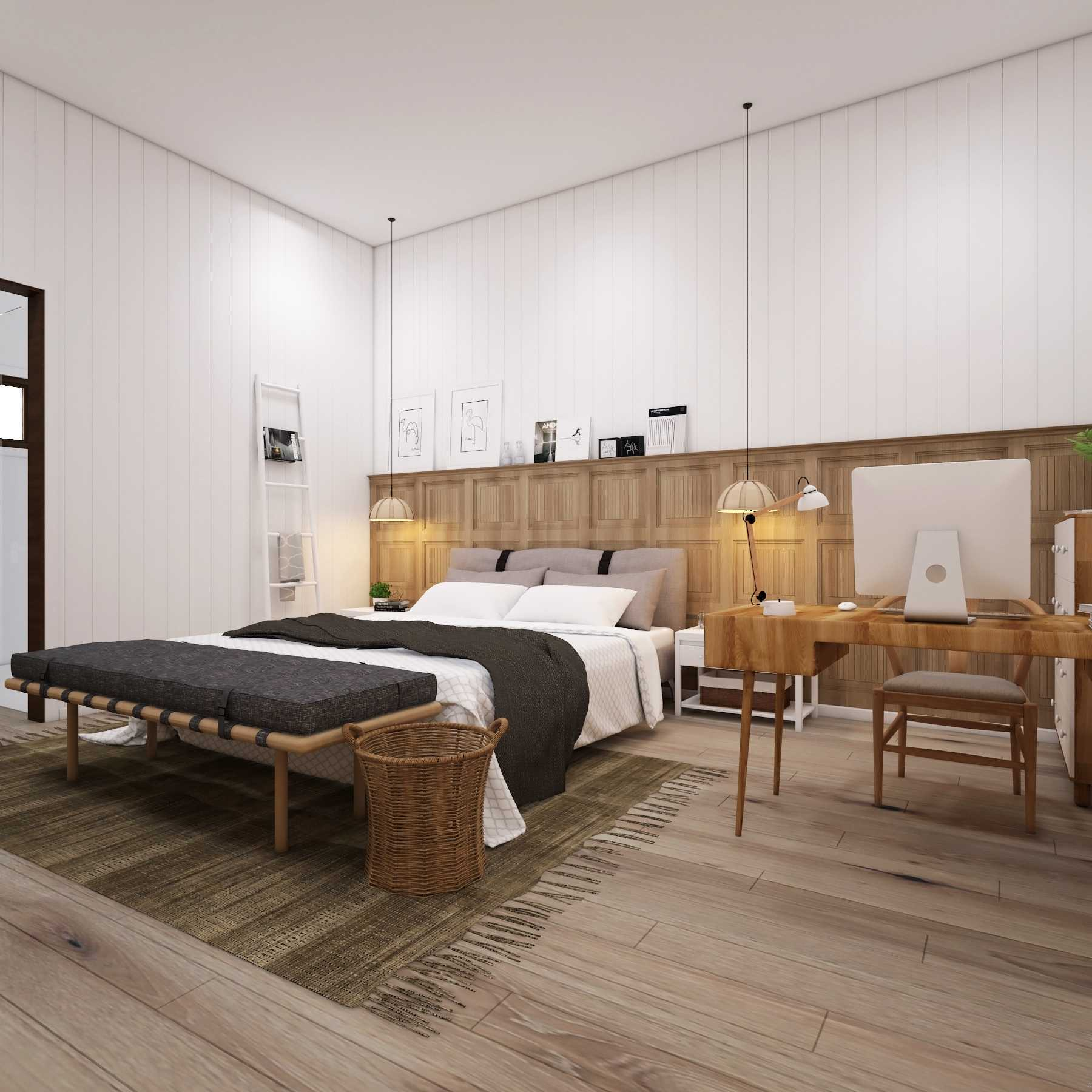 La.casa Scandinavian Medan, North Sumatera, Indonesia Medan, North Sumatera, Indonesia Bedroom Skandinavia  15453