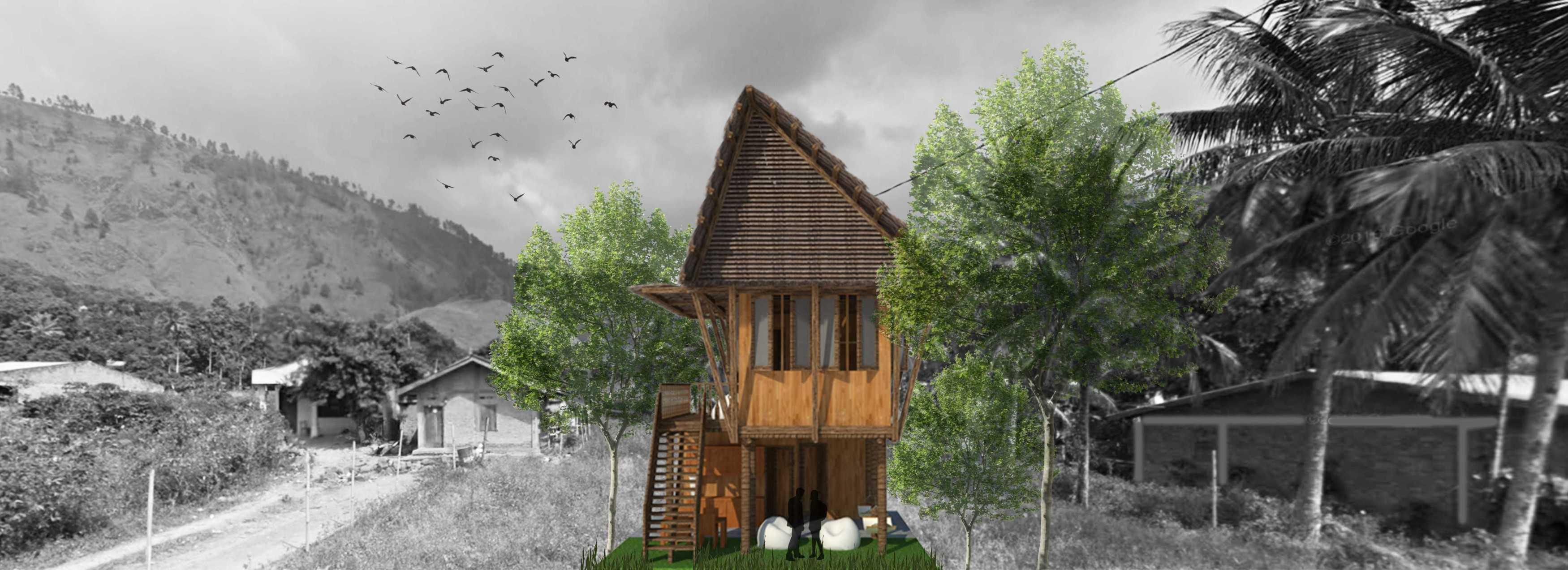 Virr Studio Rumah Tongging Homestay Lake Toba, Indonesia Lake Toba, Indonesia 3D-Exterior-Utama Tradisional,tropis  30699