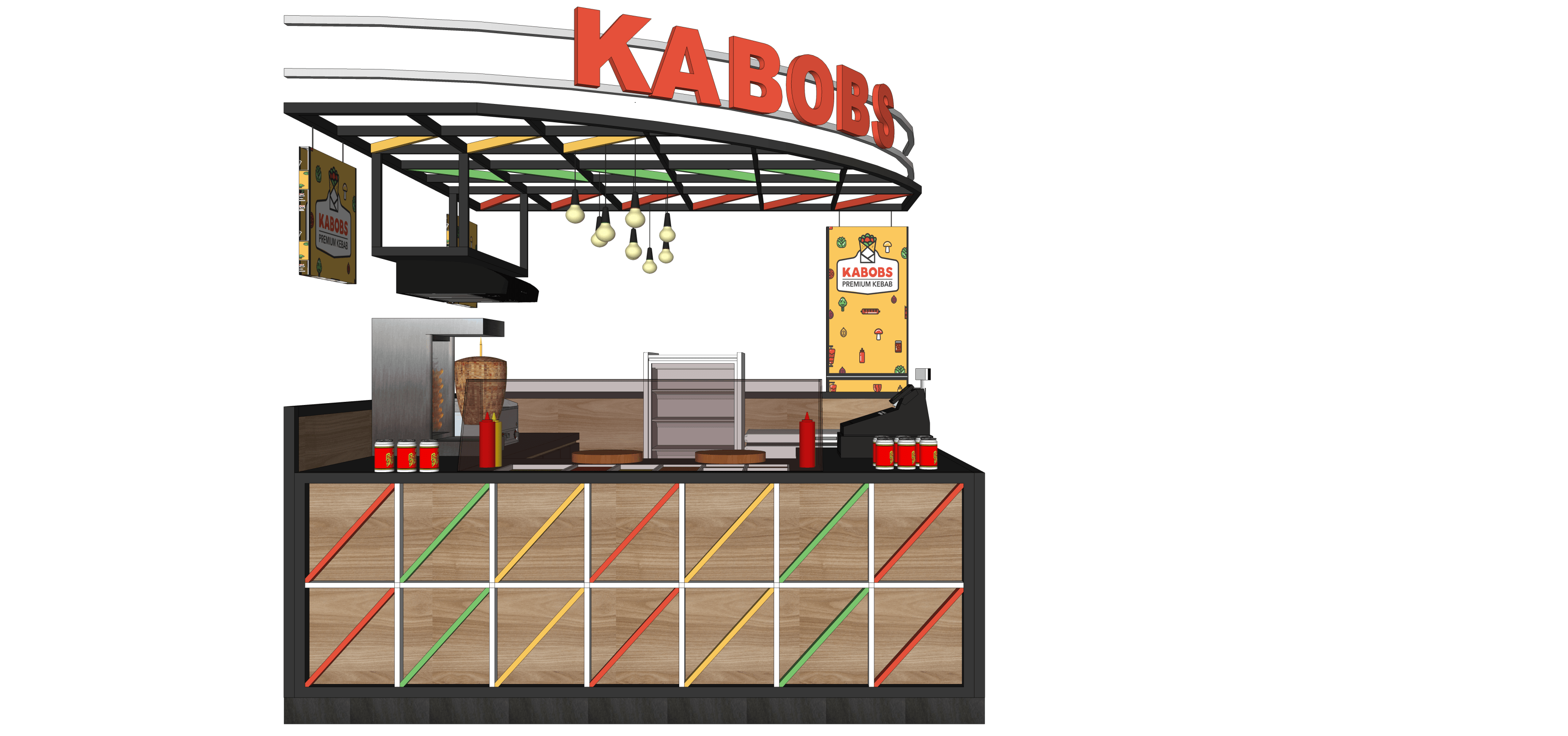 Virr Studio Kabob Premium Kebab Bandung Indah Plaza Citarum, Bandung Wetan, Bandung City, West Java 40117, Indonesia Citarum, Bandung Wetan, Bandung City, West Java 40117, Indonesia Kabobs-Booth-Design-New-02 Industrial,kontemporer,modern  36253