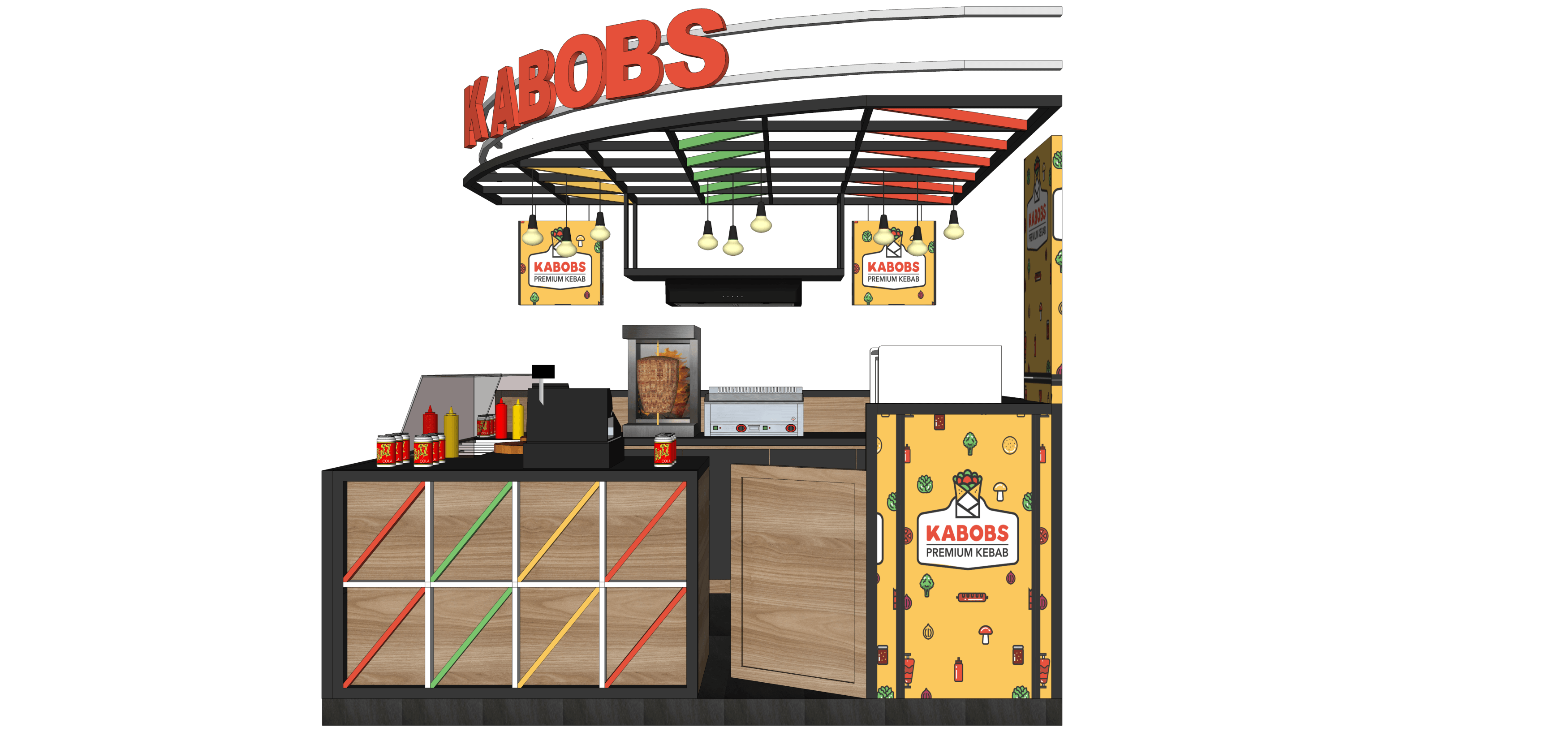 Virr Studio Kabob Premium Kebab Bandung Indah Plaza Citarum, Bandung Wetan, Bandung City, West Java 40117, Indonesia Citarum, Bandung Wetan, Bandung City, West Java 40117, Indonesia Kabobs-Booth-Design-New-01 Industrial,kontemporer,modern  36254