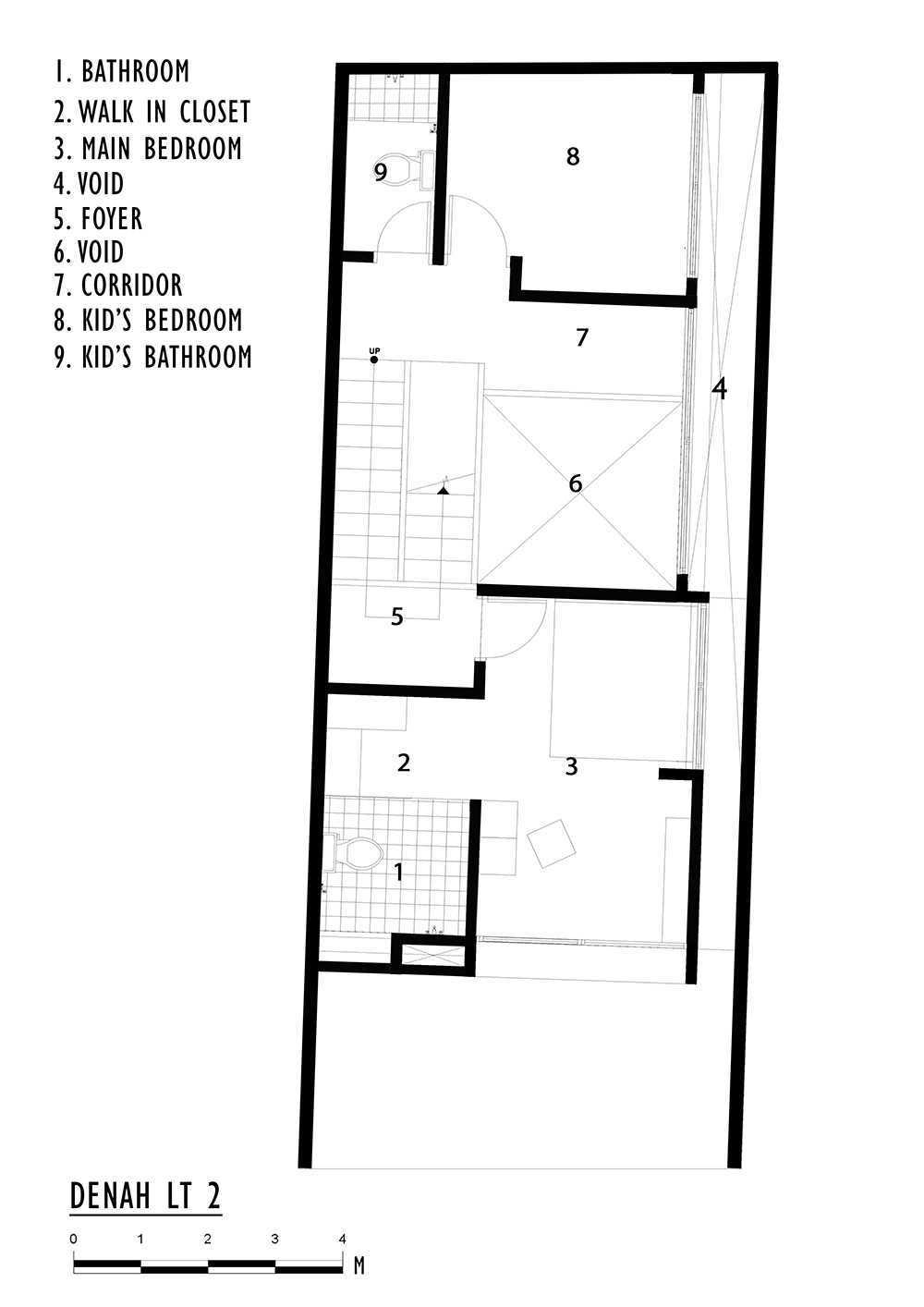 Delution Splow House Jl. Tebet Bar., Tebet Bar., Tebet, Kota Jakarta Selatan, Daerah Khusus Ibukota Jakarta 12810, Indonesia Jakarta, Indonesia 2Nd Floorplan Modern  12388