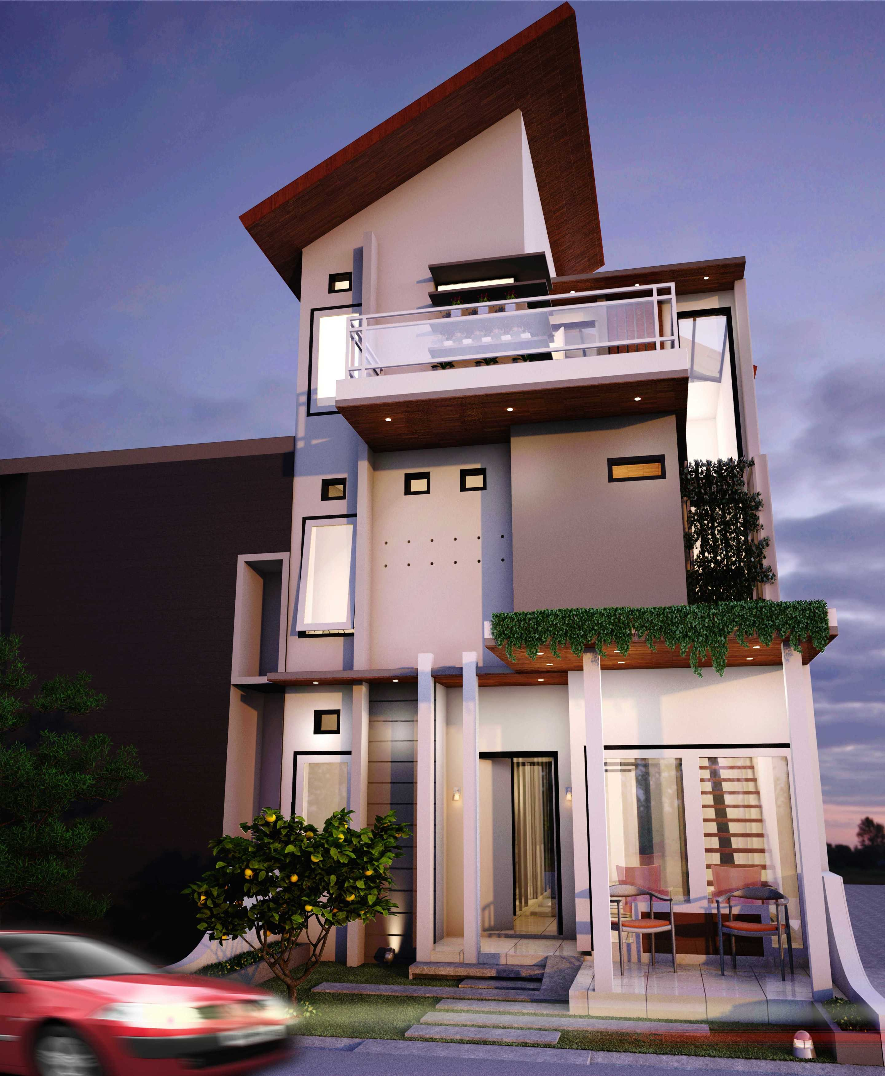 Parades Studio Oase City House Bandung-Indonesia Bandung-Indonesia Front View Modern  12346
