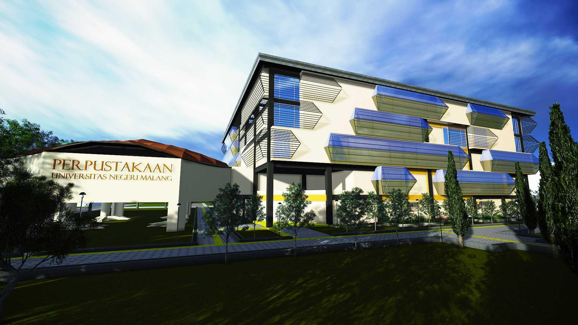 Parades Studio Library Building Malang-Indonesia Malang-Indonesia Front View Kontemporer  12357