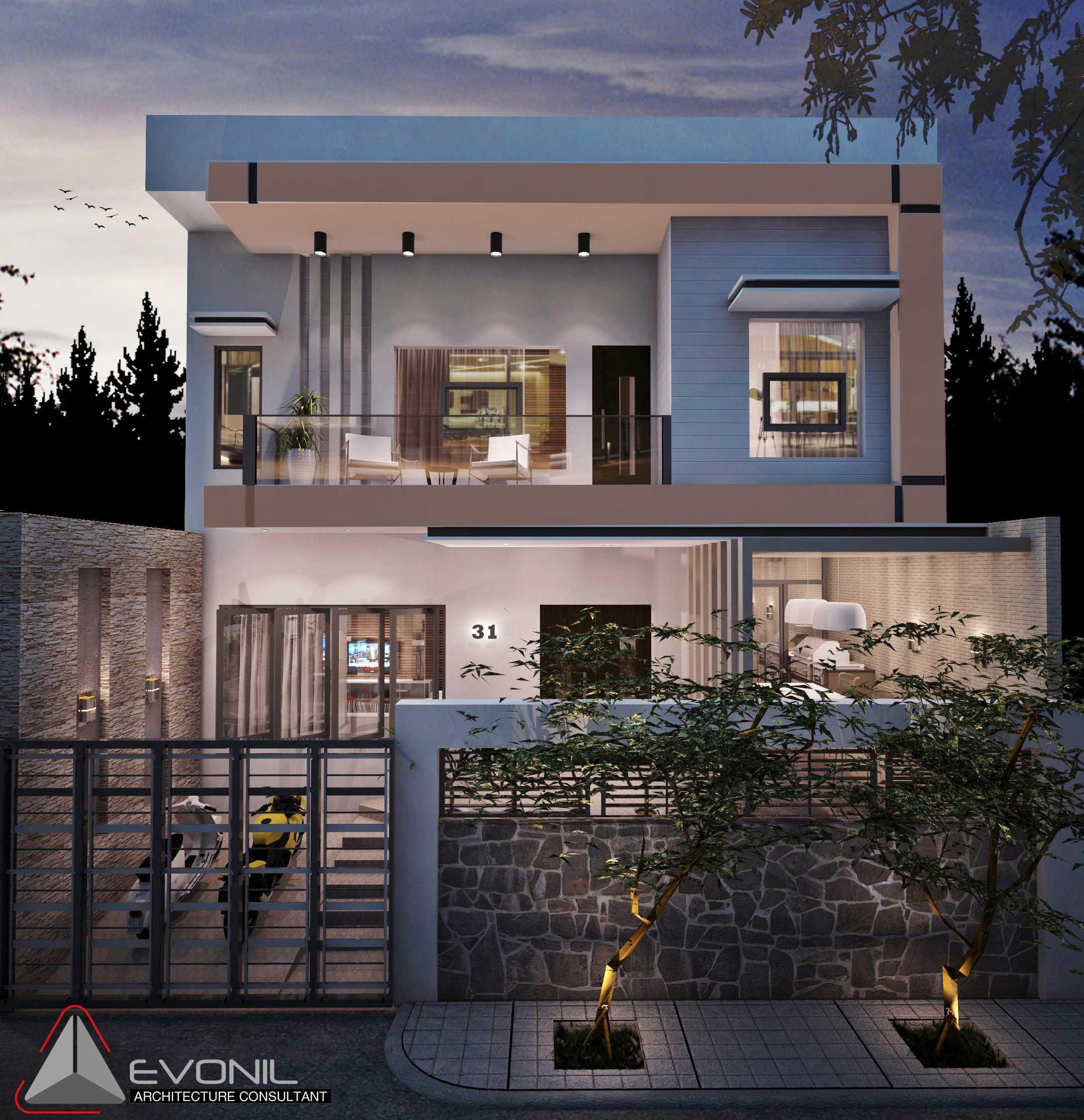 Evonil Architecture Residence Industri Jakarta, Indonesia Jakarta, Indonesia Rumah-Jalan-Industri-Alt Asian  13011