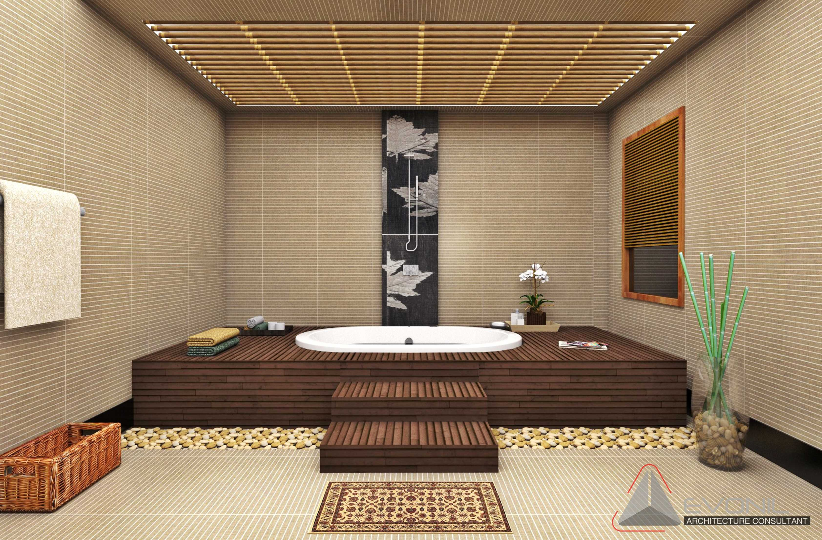 Evonil Architecture Residence Industri Jakarta, Indonesia Jakarta, Indonesia Bathroom-1St-Floor-Industri Asian  13014