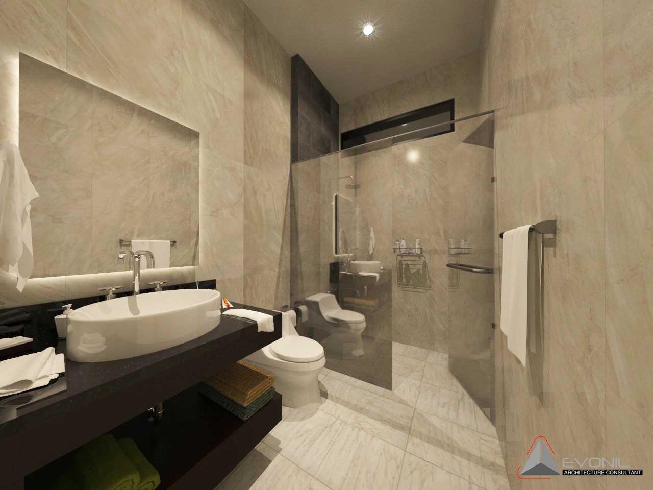 Evonil Architecture Residence Pluit Timur Pluit, Jakarta Pluit, Jakarta Bathroom-2Nd-Floor-Residence-Pluit-Timur Asian  13020