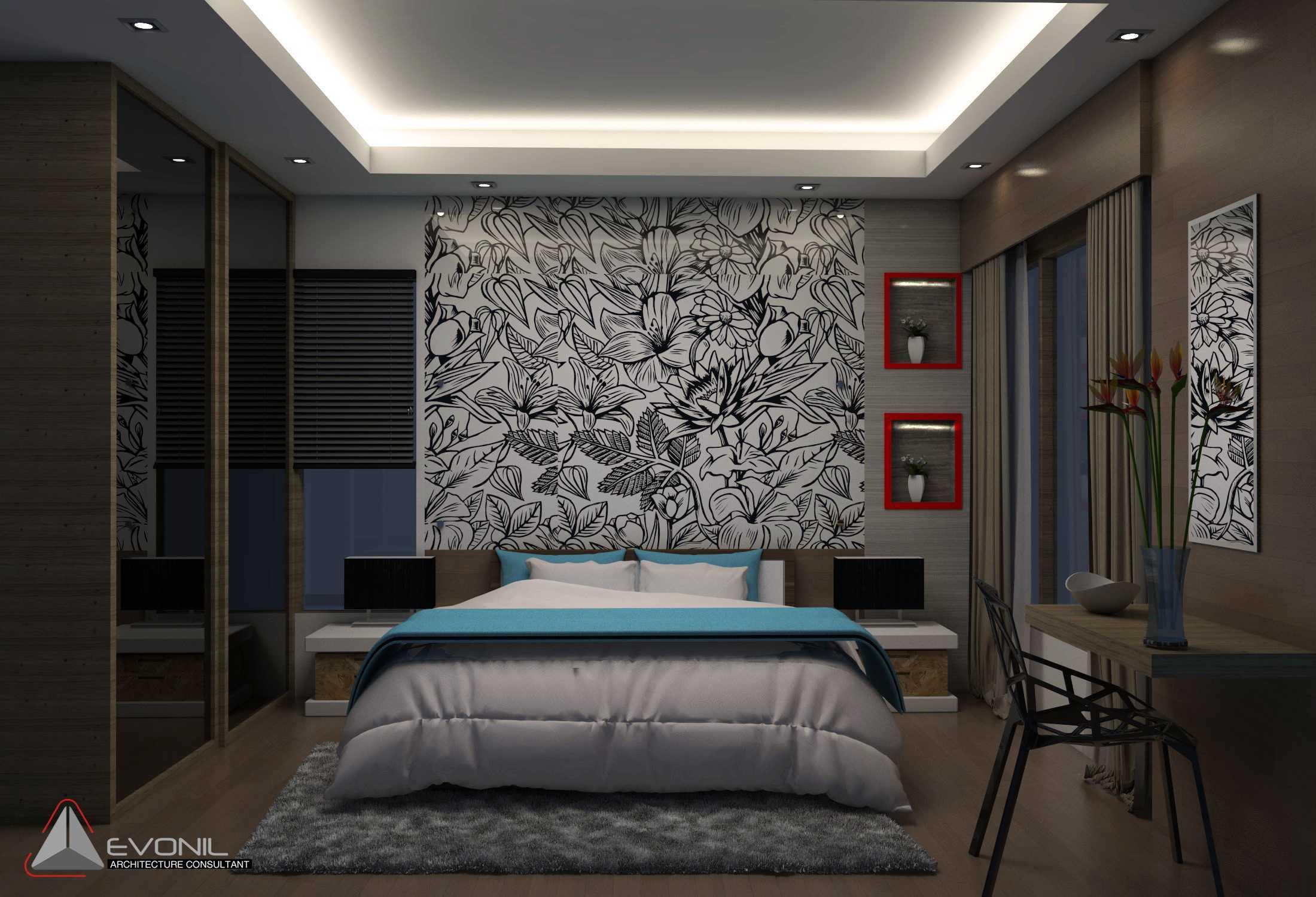 Evonil Architecture Residence Jatiwaringin Jatiwaringin, Jakarta Jatiwaringin, Jakarta Guest-Bedroom-2-Rev Kontemporer  13046