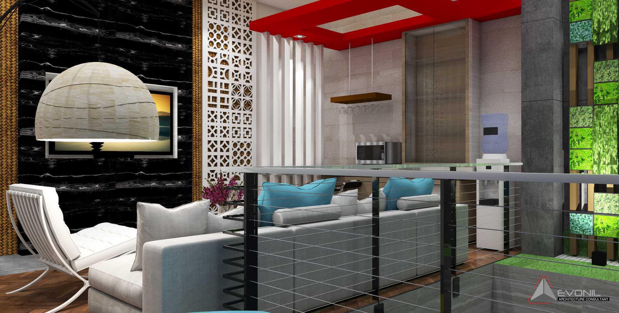 Evonil Architecture Residence Jatiwaringin Jatiwaringin, Jakarta Jatiwaringin, Jakarta Living-Room-Lantai-2-Rev Tradisional  13068