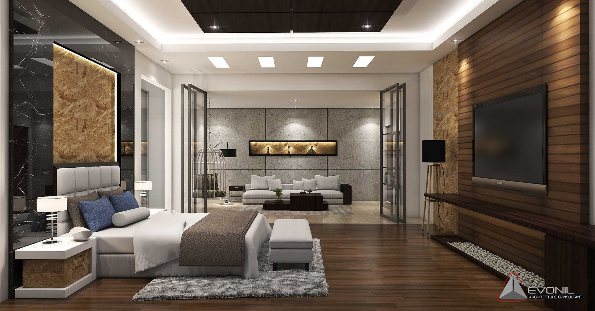 Evonil Architecture Residence Pangkalan Bun Pangkalan Bun, Kalimantan, Indonesia Pangkalan Bun, Kalimantan, Indonesia Master-Bedroom-Residence-Pangkalan-Bun Modern  13144
