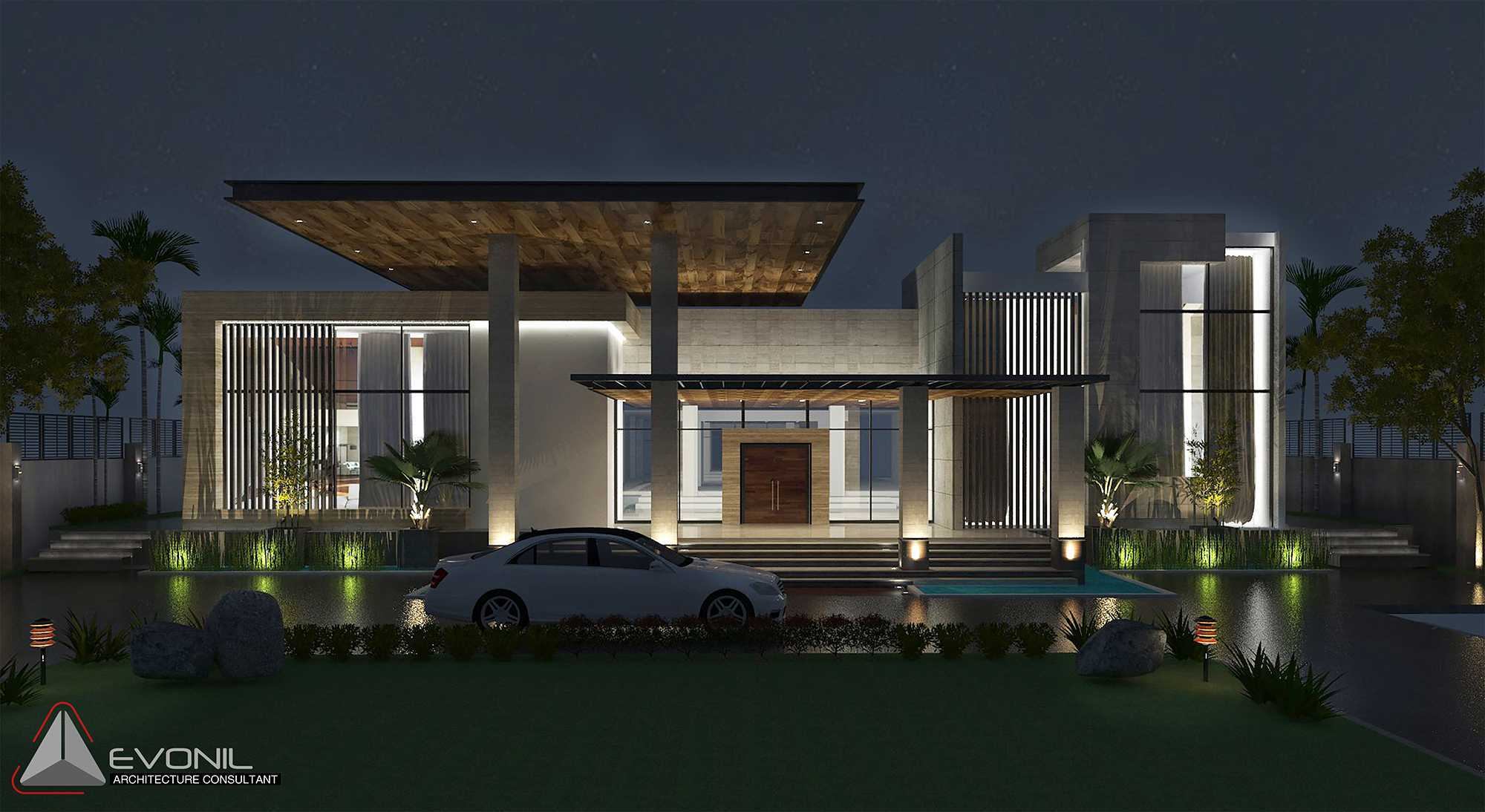 Evonil Architecture Residence Pangkalan Bun Pangkalan Bun, Kalimantan, Indonesia Pangkalan Bun, Kalimantan, Indonesia Pool-View-Residence-Pangkalan-Bun Modern  13152