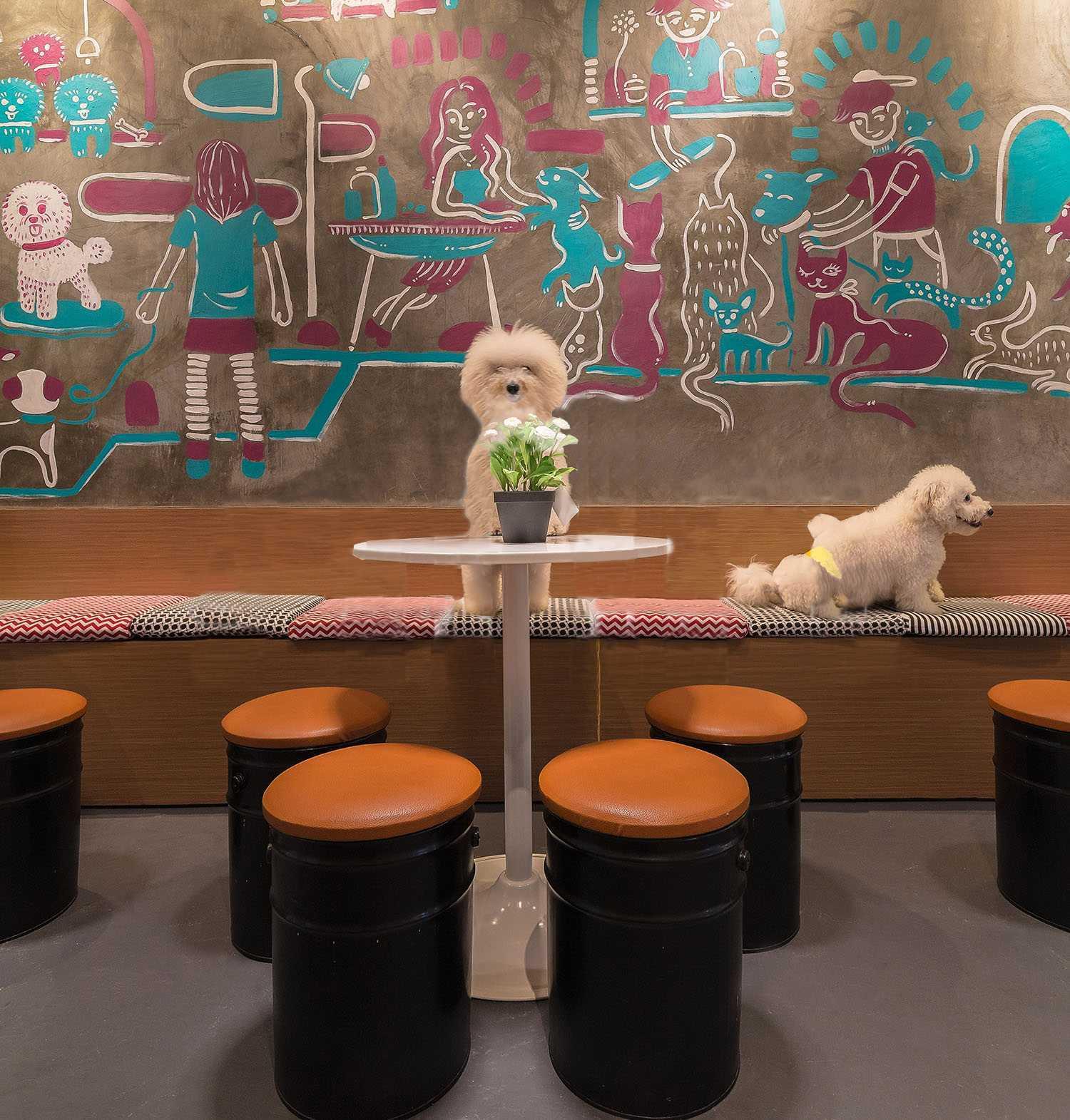 Evonil Architecture Barkbershop Pet Grooming Studio & Cafe Puri, Jakarta, Indonesia Puri, Jakarta, Indonesia Pets Area Modern  13210
