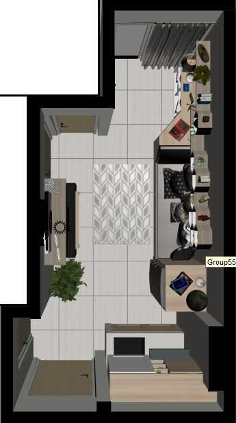 Getto Id Apartment Ayodhya 2 Br Tangerang City, Banten, Indonesia Tangerang City, Banten, Indonesia Denah-Living-Room Skandinavia  33204
