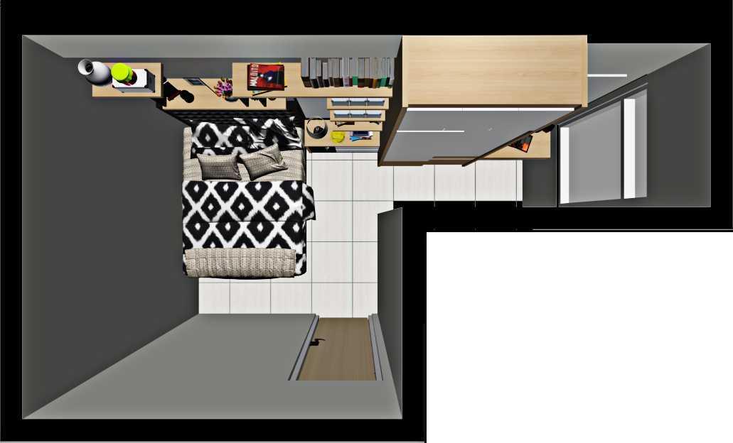 Getto Id Apartment Ayodhya 2 Br Tangerang City, Banten, Indonesia Tangerang City, Banten, Indonesia Denah-Master-Bedroom Skandinavia  33205