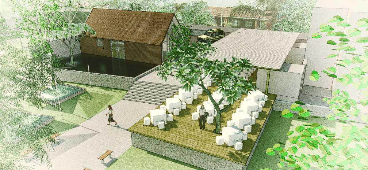 Arkitekt.id Cihanjuang Nursery Cihanjuang, Bandung Cihanjuang, Bandung Bird Eye View Modern Outdoor Dining Area. 16920