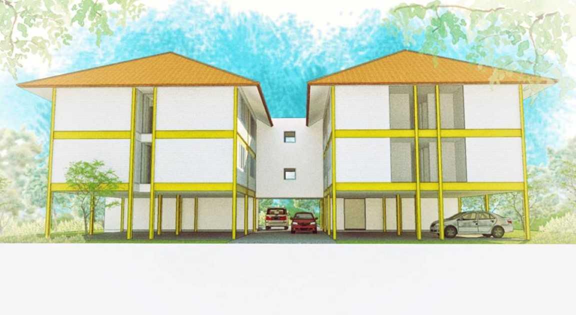Arkitekt.id Pakuan Boarding House Bogor Bogor Per-Belakang-Custom  <P>Perspective Of Rear View.</p> 17725