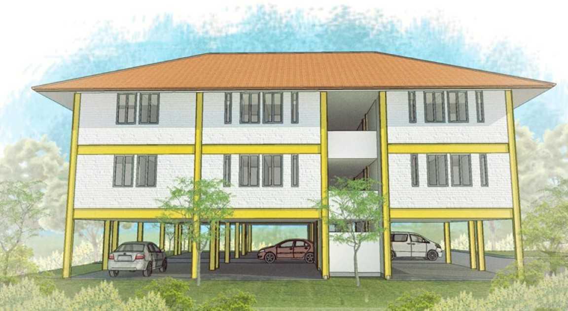 Arkitekt.id Pakuan Boarding House Bogor Bogor Left Elevation  <P>Perspective Of The Building From The Left Side.</p> 17726
