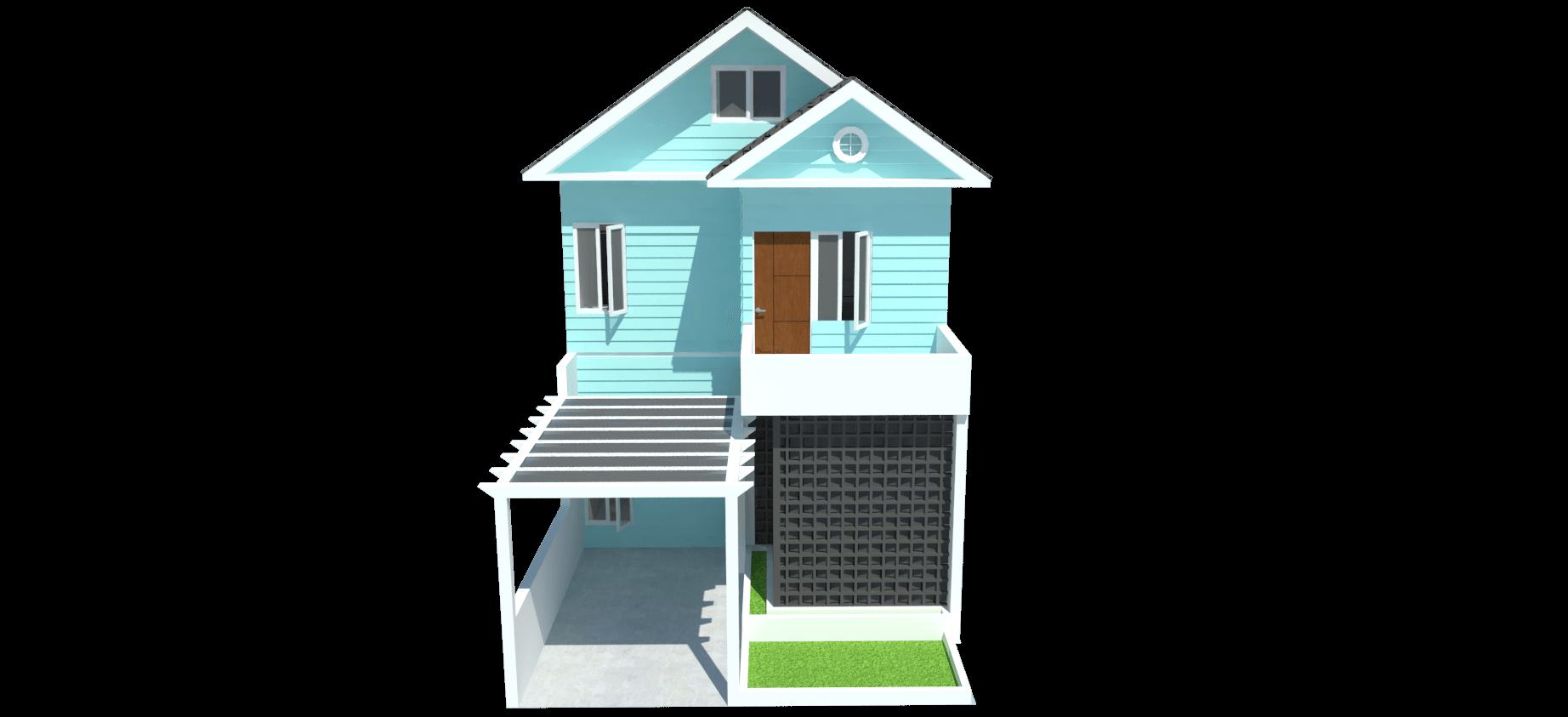 Takhta.aksata Renovasi Rumah Tinggal Komp. Metro, Cilegon Komp. Metro, Cilegon View-Depan-Rumah-Pantai-1   14543