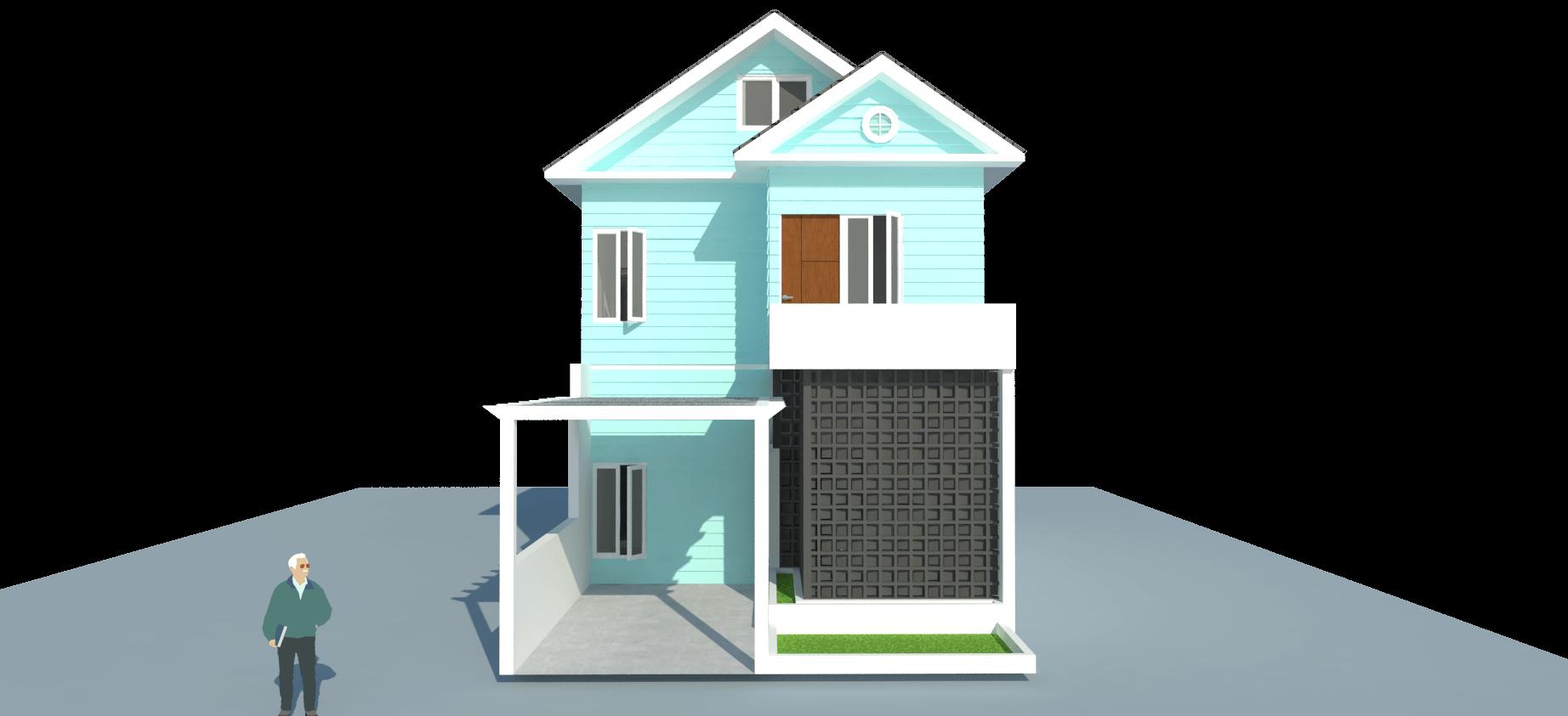 Takhta.aksata Renovasi Rumah Tinggal Komp. Metro, Cilegon Komp. Metro, Cilegon View-Depan-Rumah-Pantai   14547