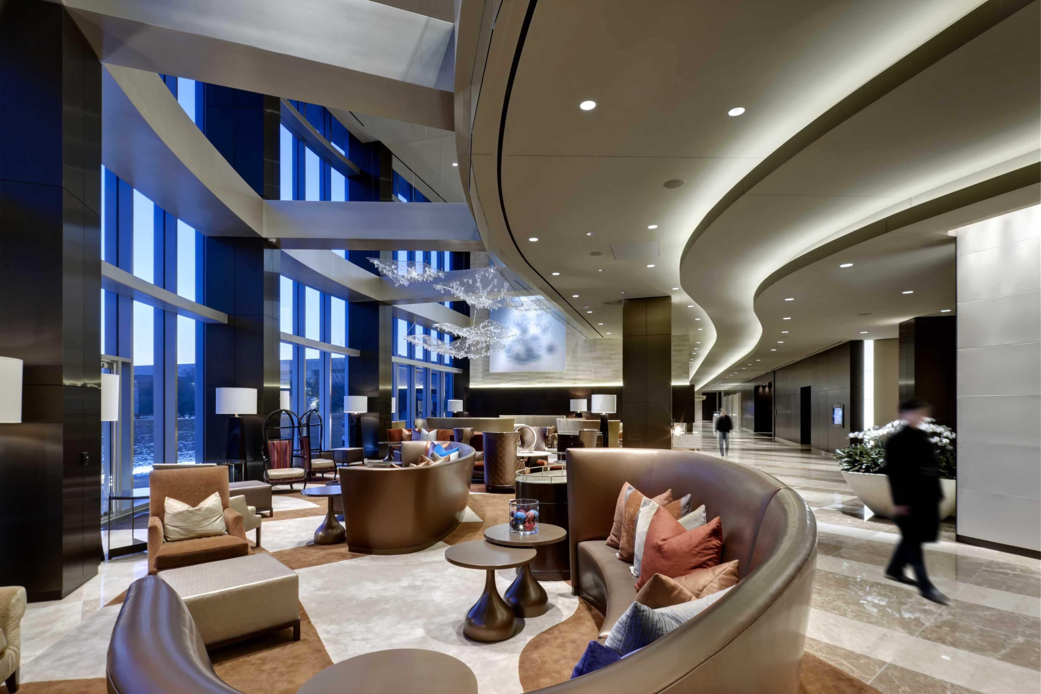 5G Studio Collaborative Omni Dallas Convention Center Hotel Dallas, Texas Dallas, Texas Lobby Hotel Modern  14956
