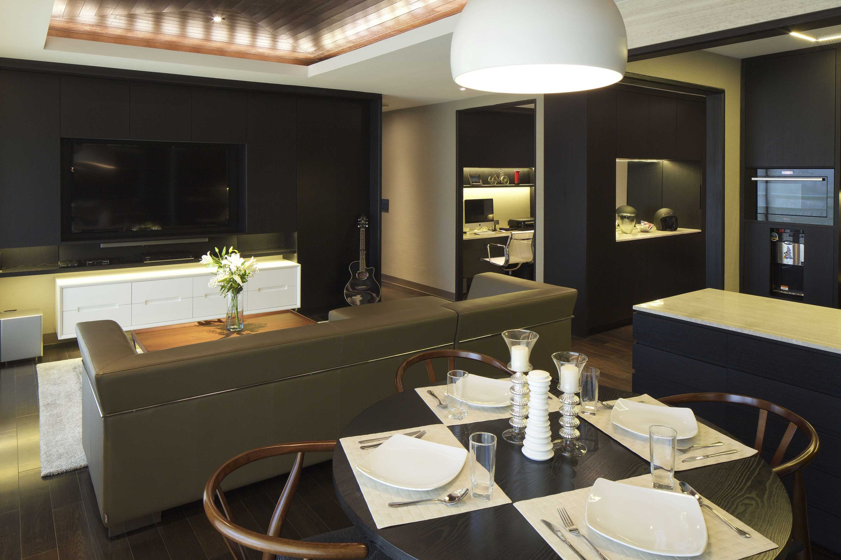 Vin•da•te Pavilion Apartment Jakarta-Indonesia Jakarta-Indonesia Living And Dining Room Modern  17536