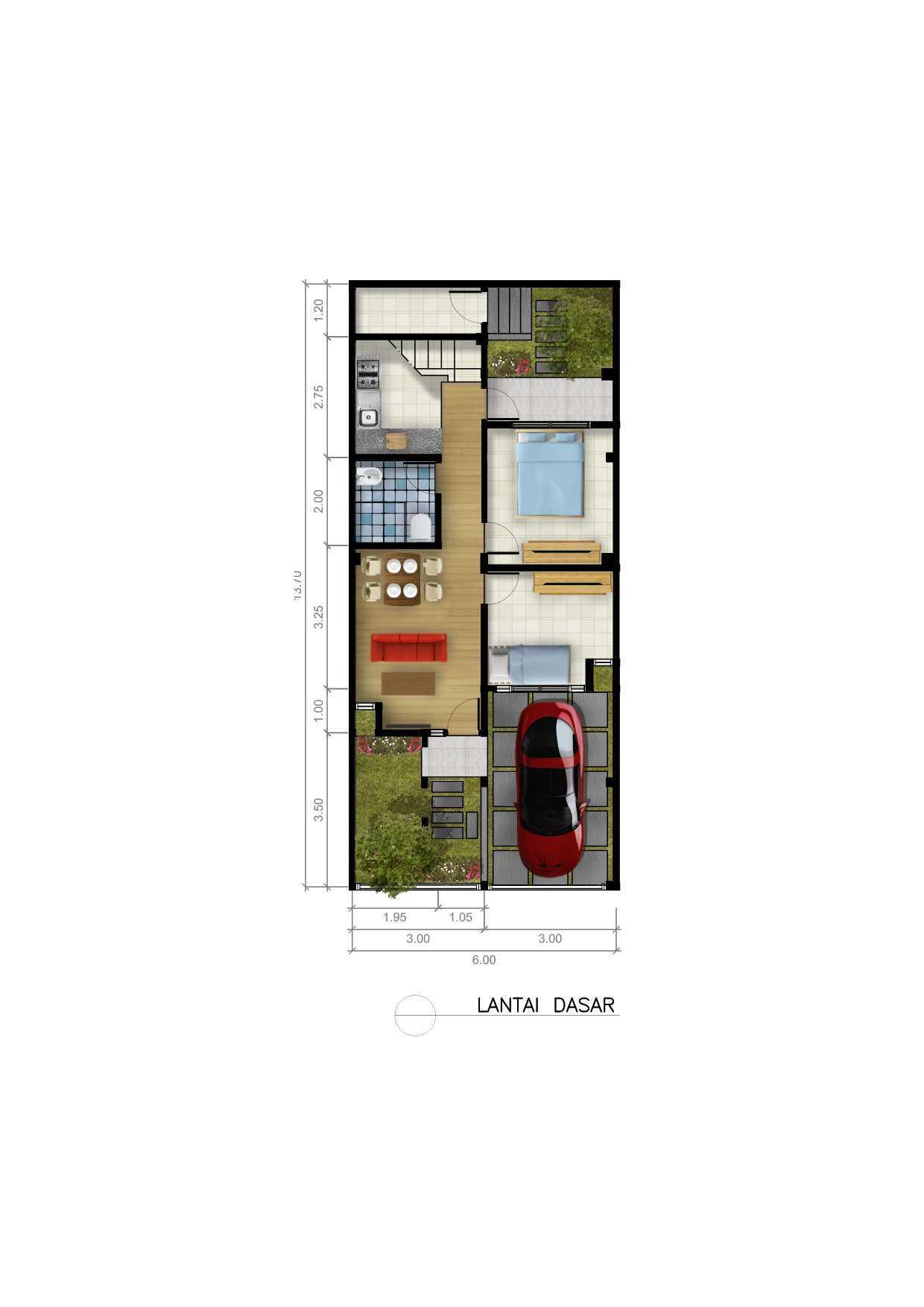 Dap Studio Rumah Bsd Tangerang Tangerang Ground Floor Plan   20928