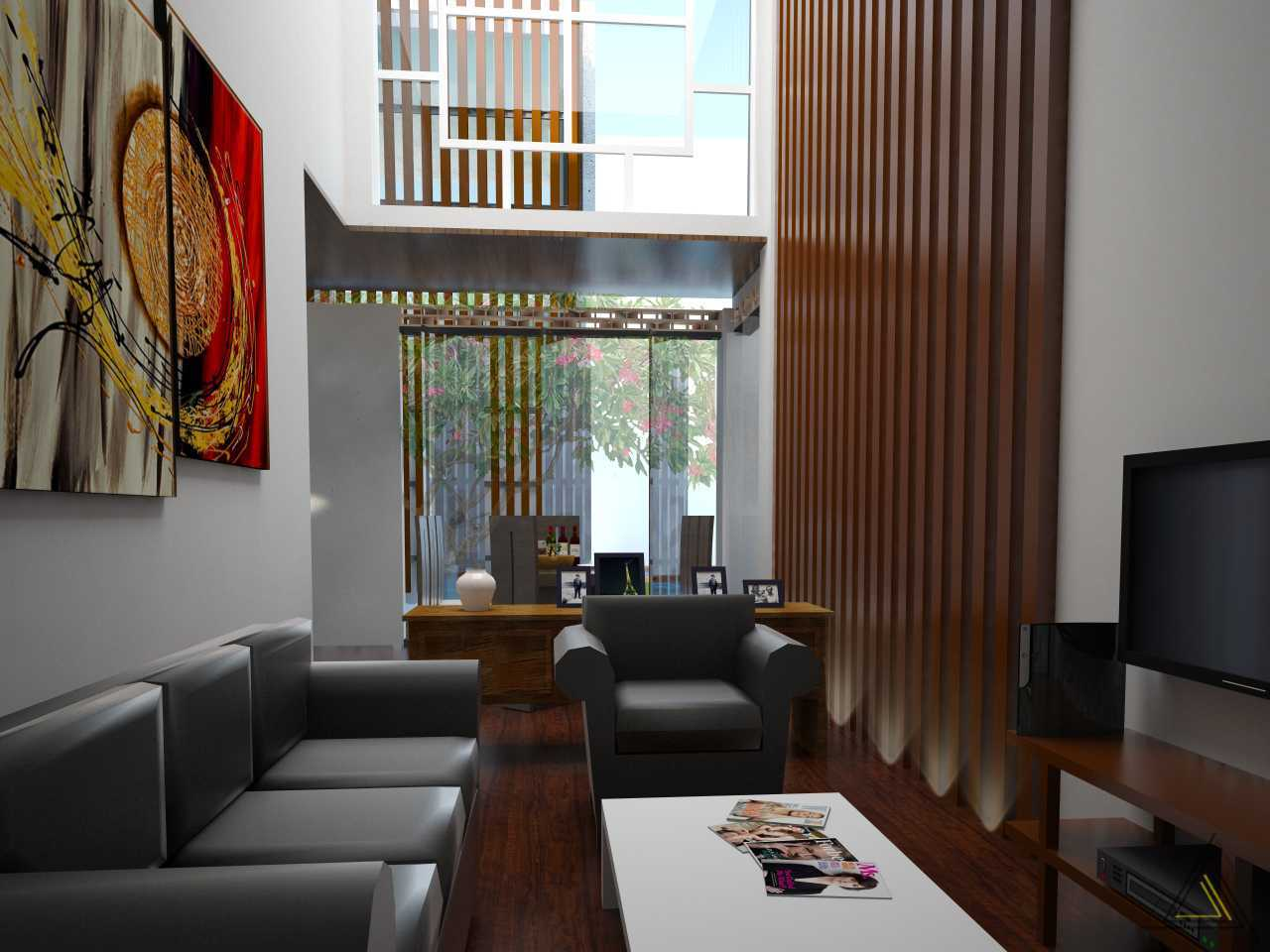 Dap Studio Kemang House Jakarta Jakarta Livingroom Utama Wood  20935
