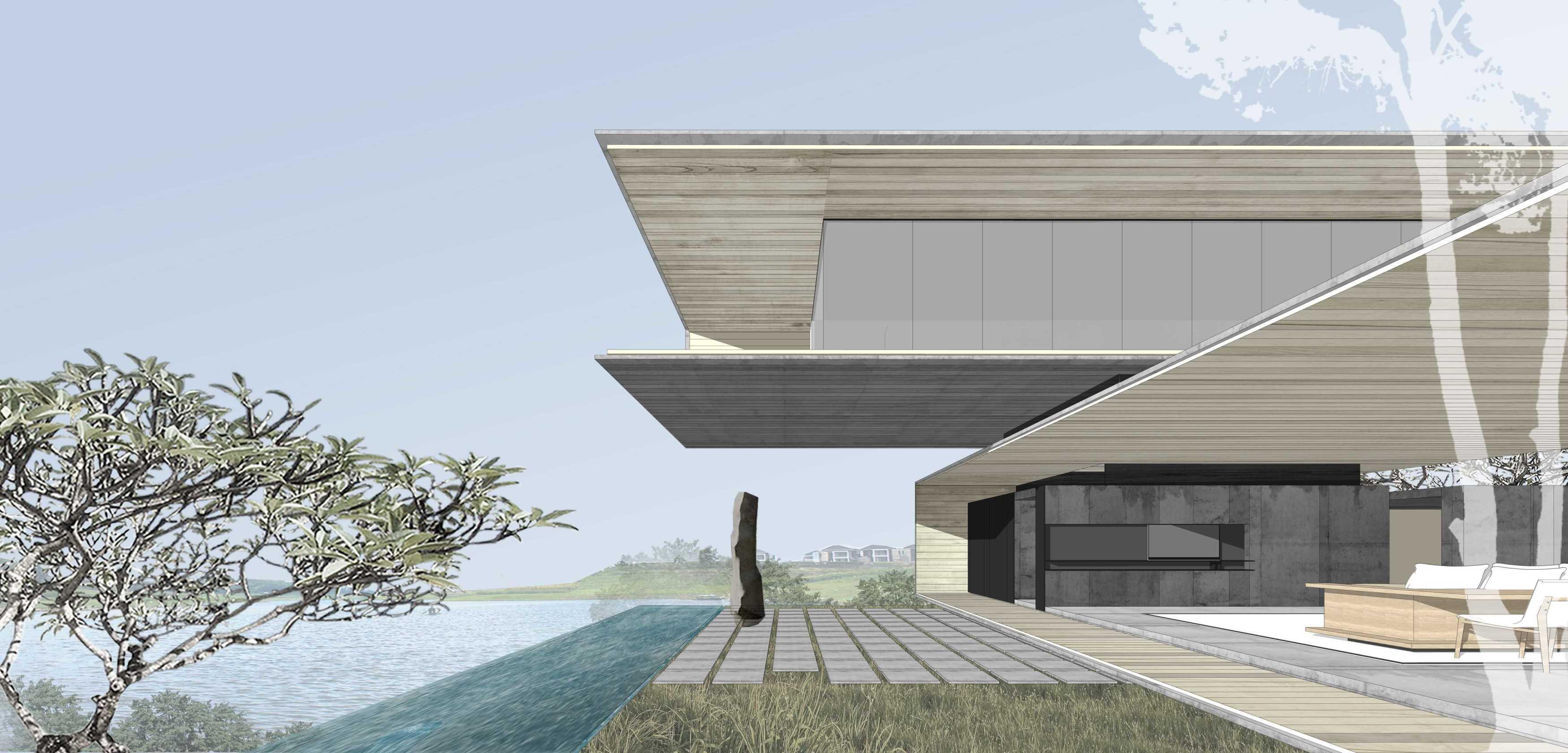 Eben Lake House In West Java Kota Baru Parahyangan Kota Baru Parahyangan Back-Garden-View Kontemporer  18469