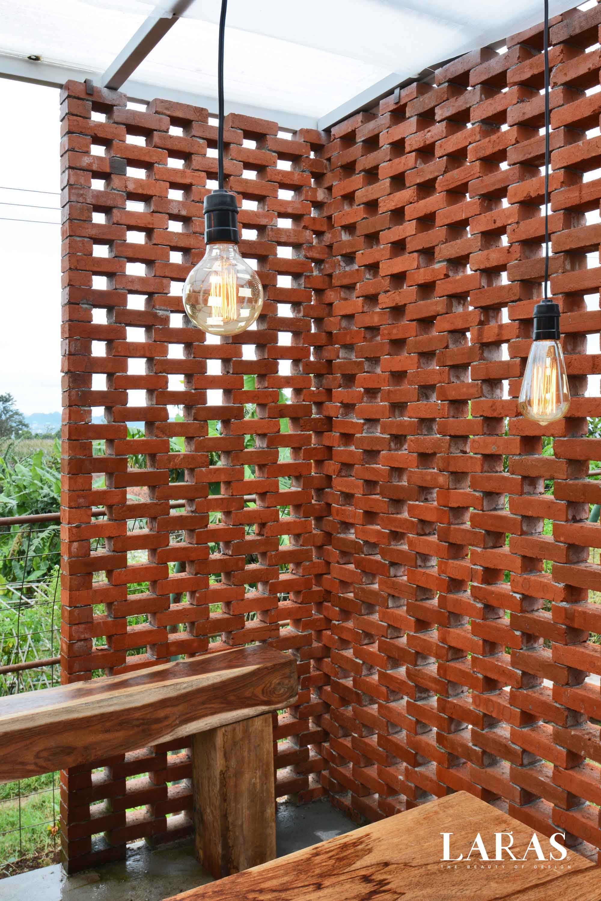 Eben White Perforated Brick House Bandung Bandung Dining Room Contemporary  29667